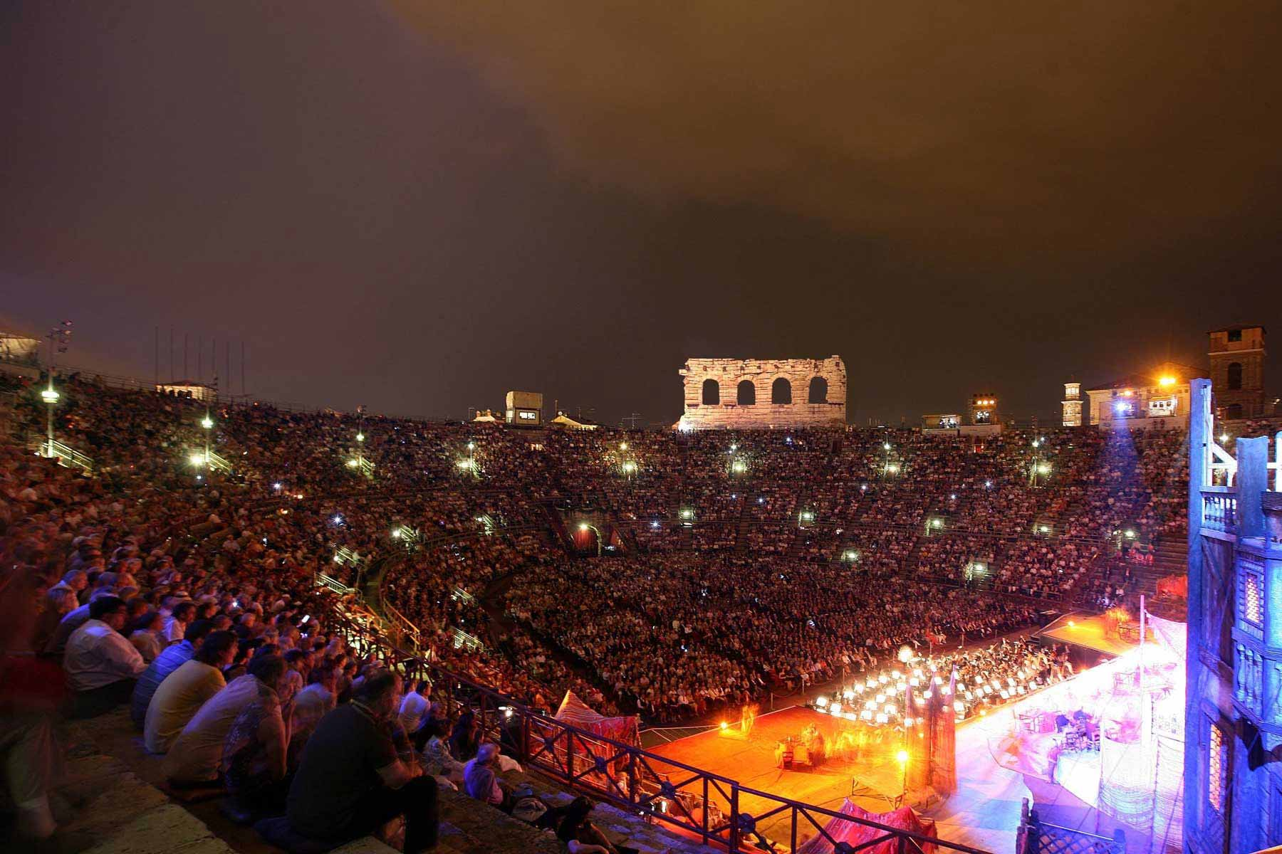 Enjoy a summer's evening at the outdoor Arena di Verona