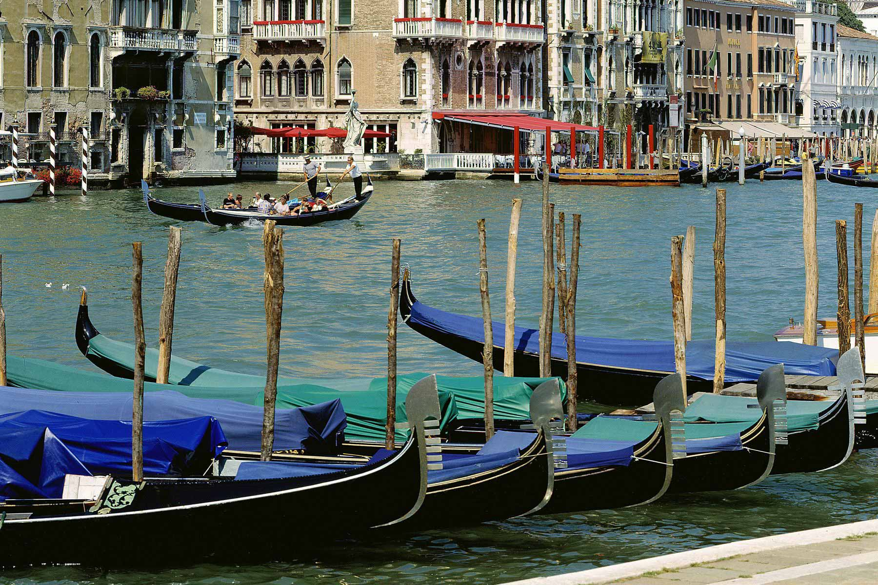 Gondola ride along the Grand Canal
