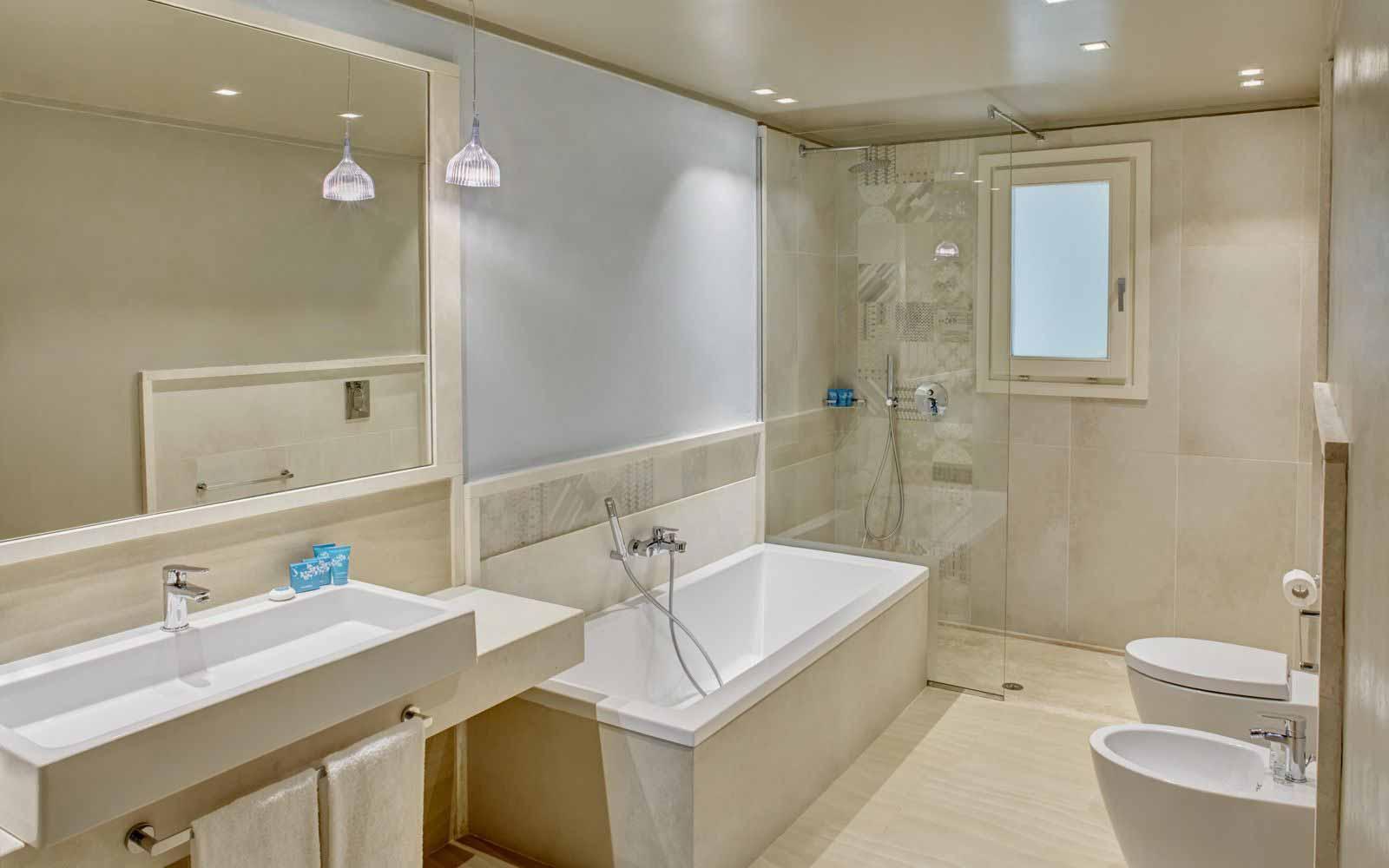 Bounganville Bathroom at the Forte Village Resort