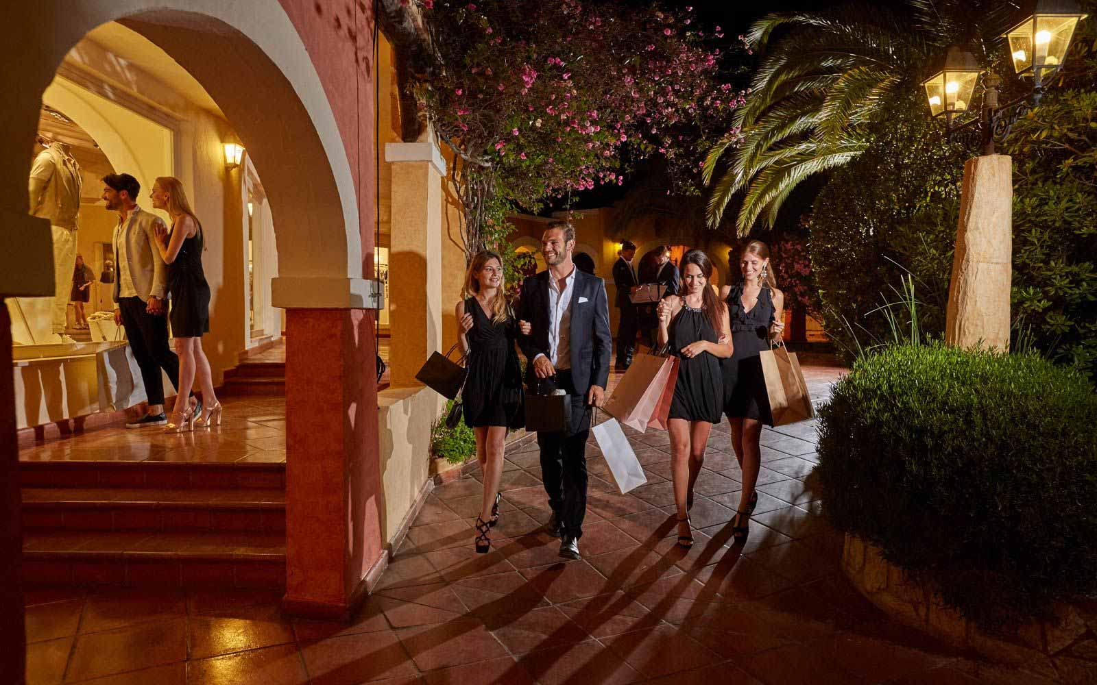 Shopping in Piazza Luigia at the Forte Village Resort