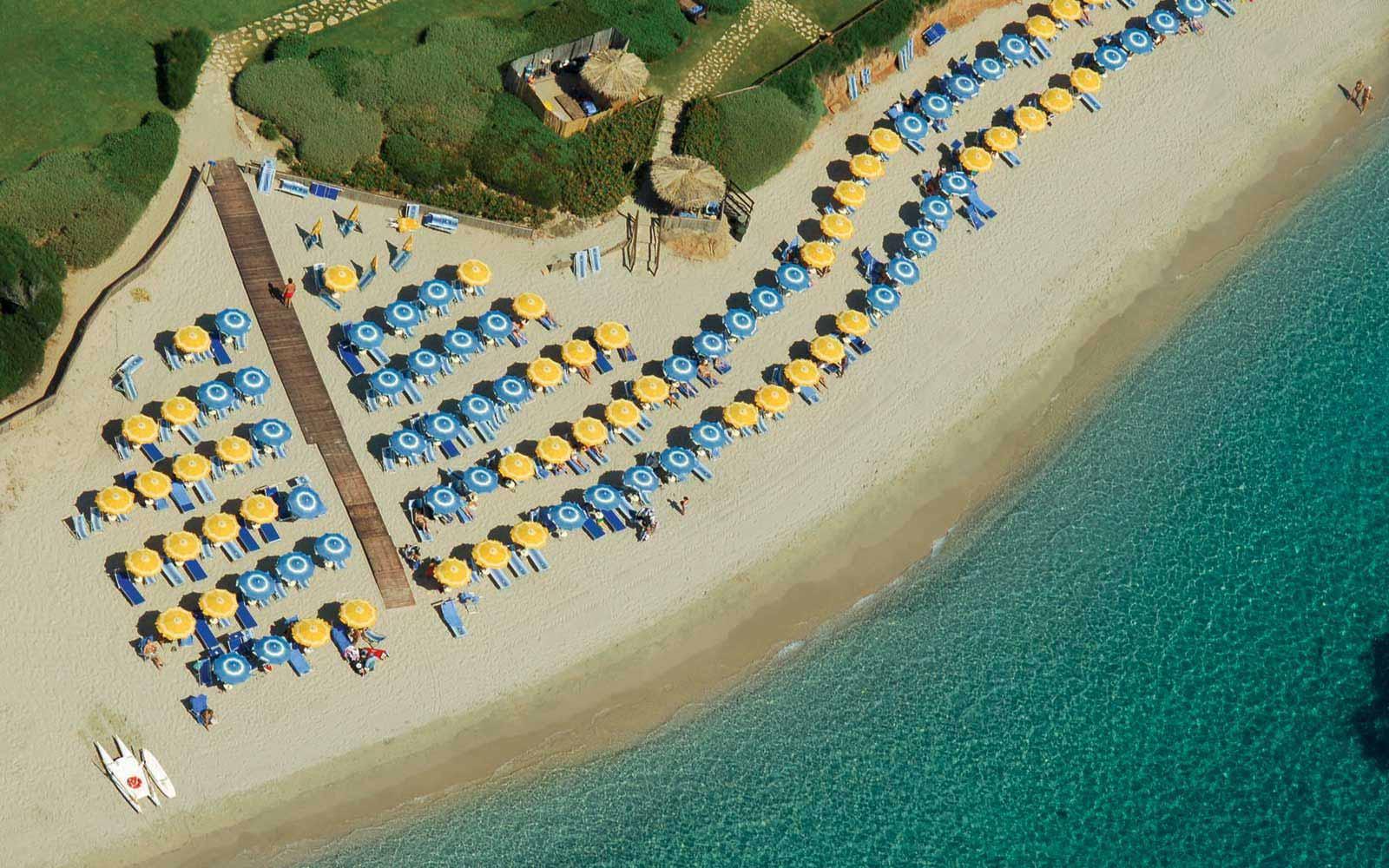 Beach at Hotel Baia Di Nora