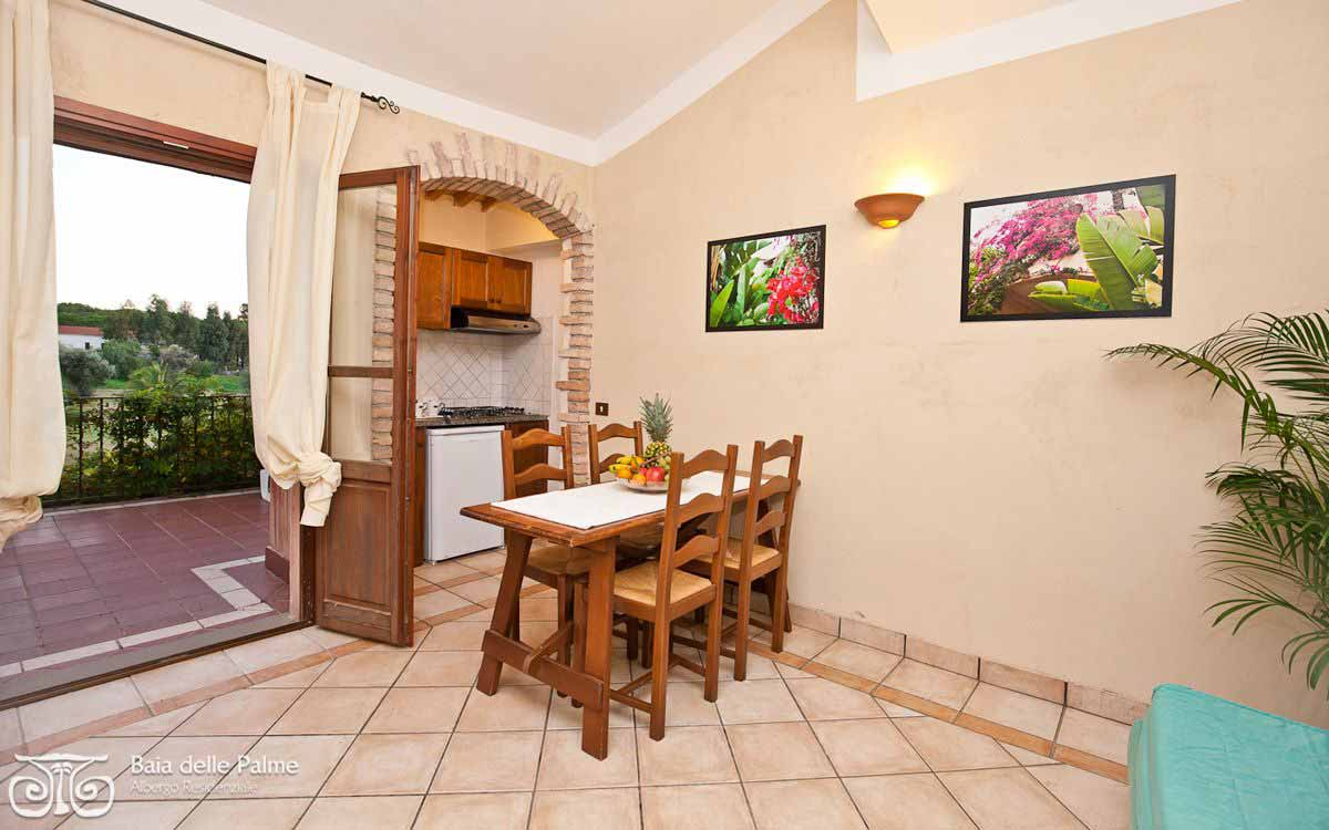 Two bedroom flat Bouganville at Residence Baia delle Palme