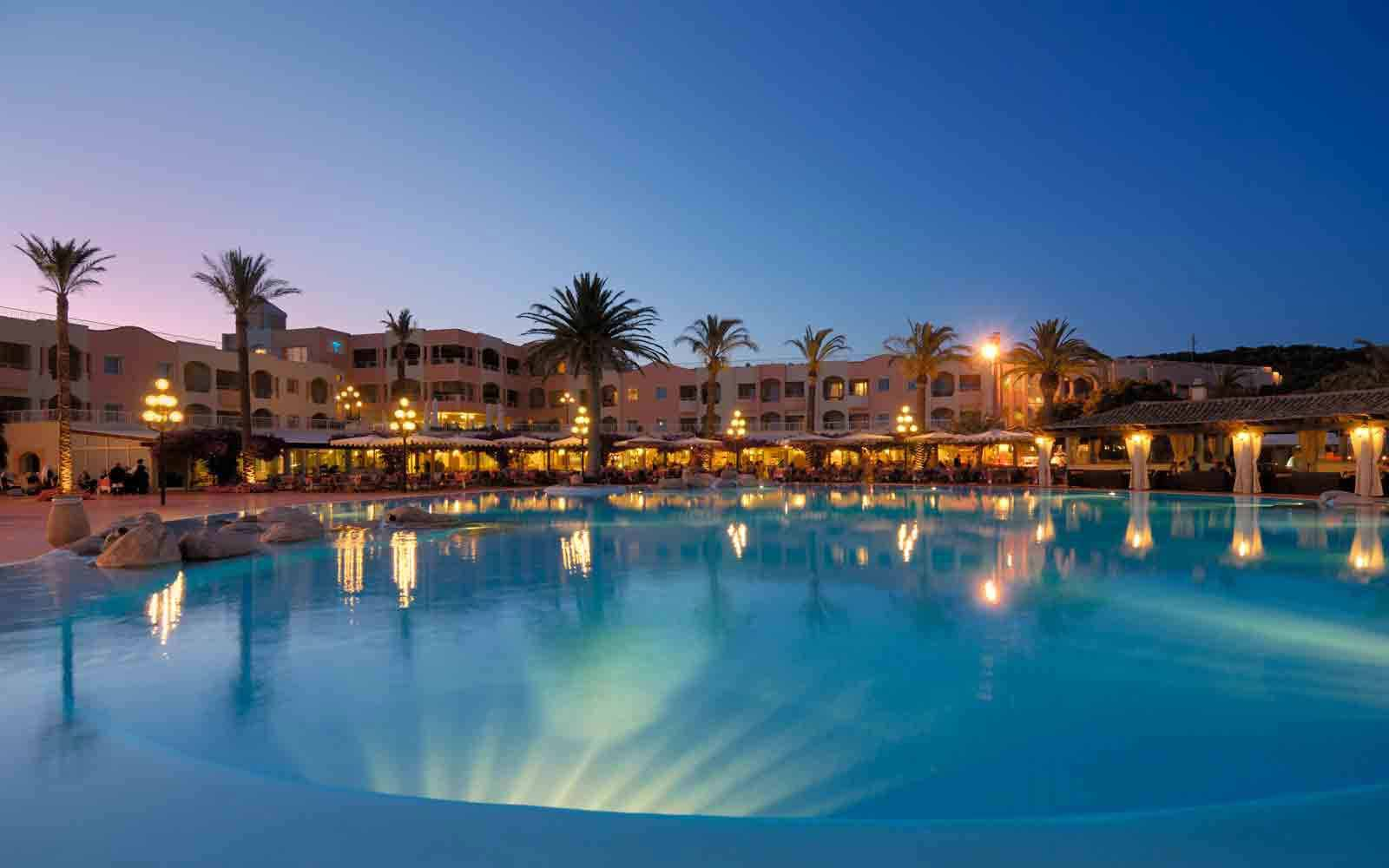 Night view of pool at Pullman Timi Ama Sardegna