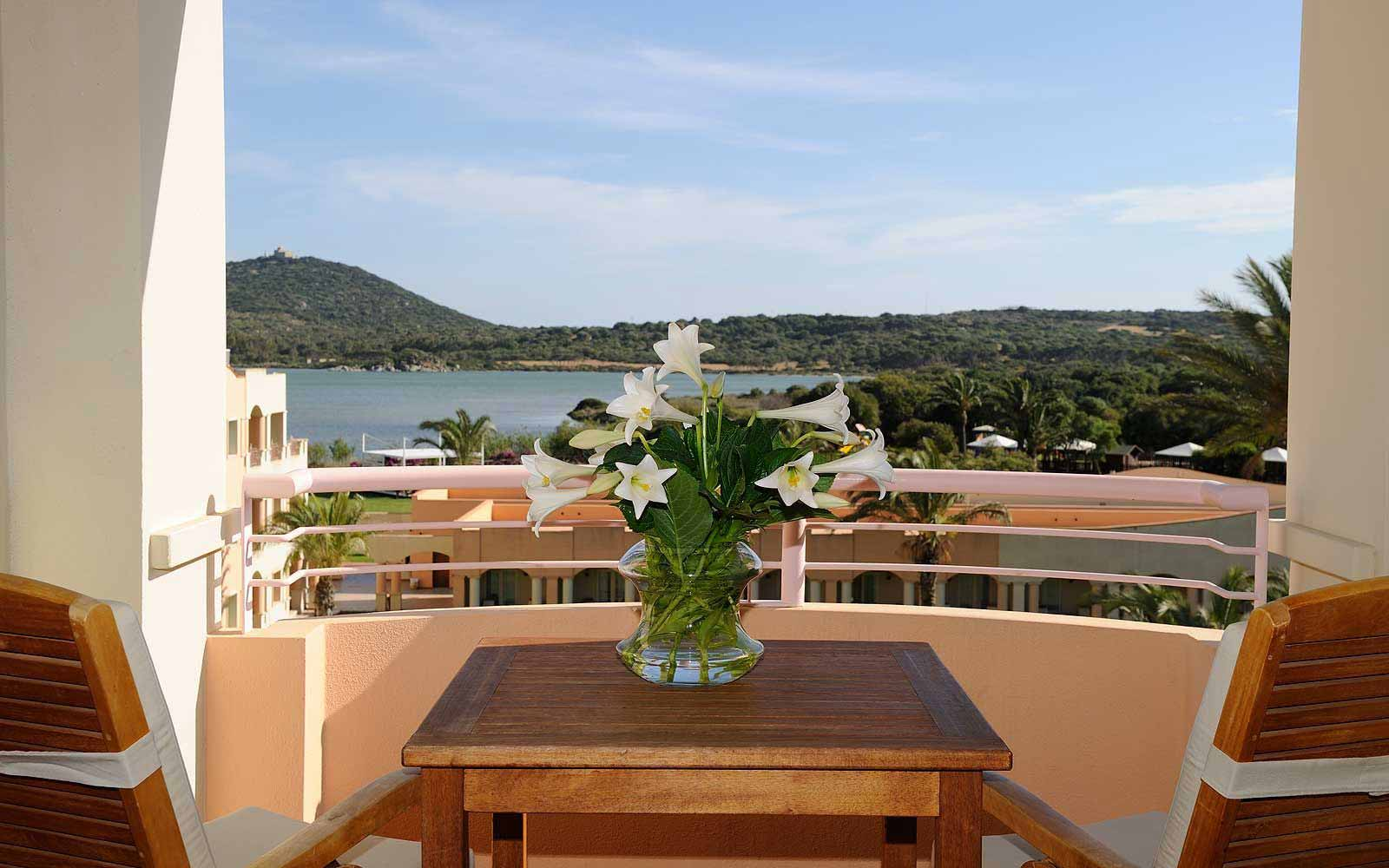 Balcony in a Bayside Room at Pullman Timi Ama Sardegna