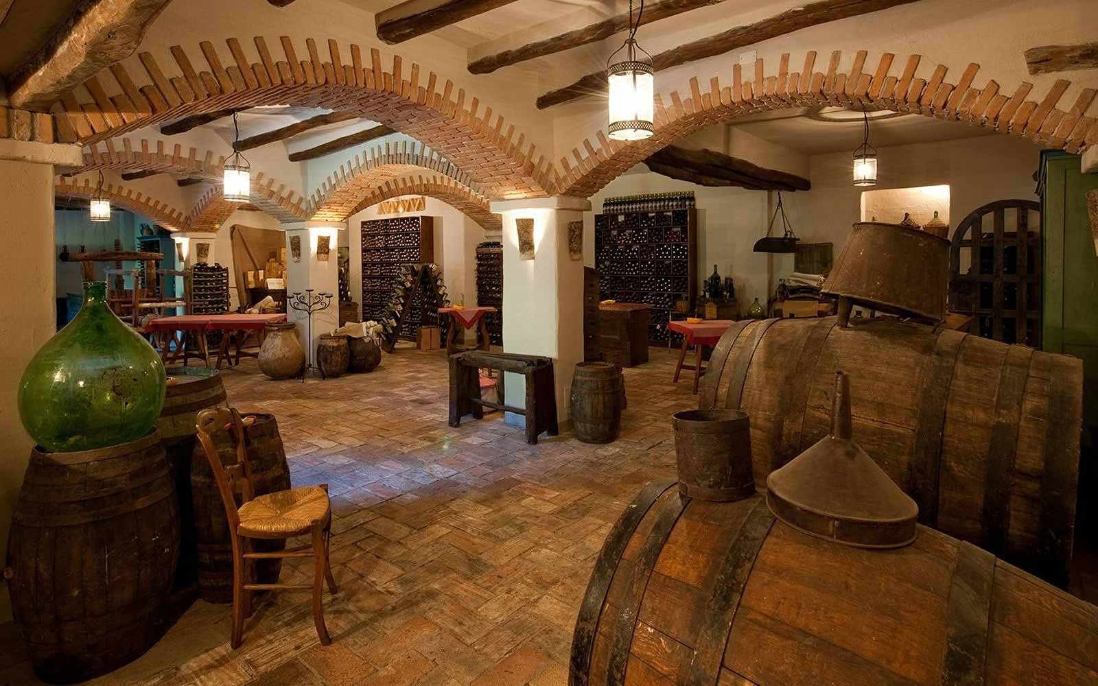 Wine cellar at Hotel Su Gologone