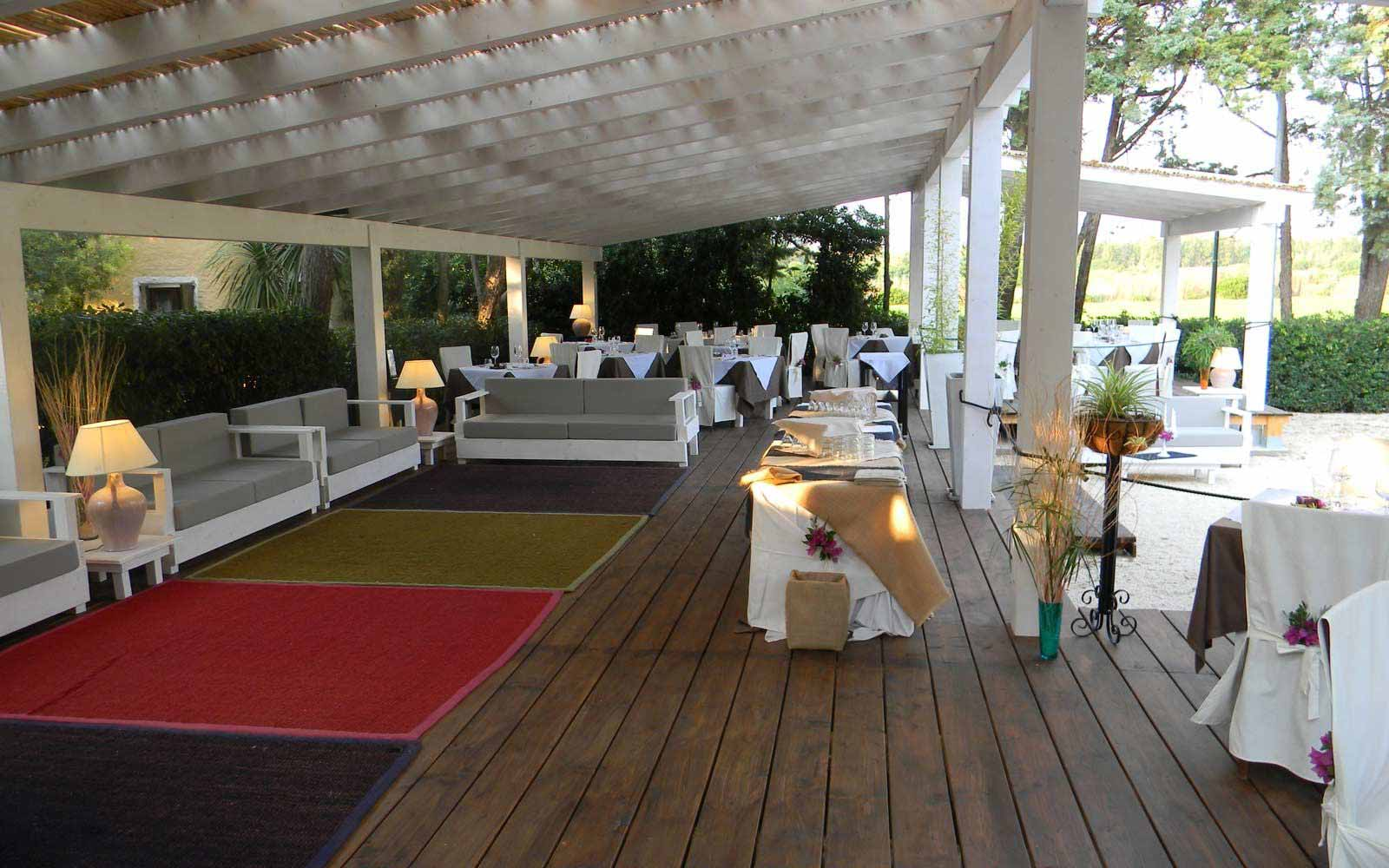 'Al Fresco' dining at Is Benas Country Lodge