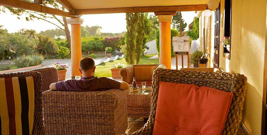 Relaxing at the Is Benas Country Lodge