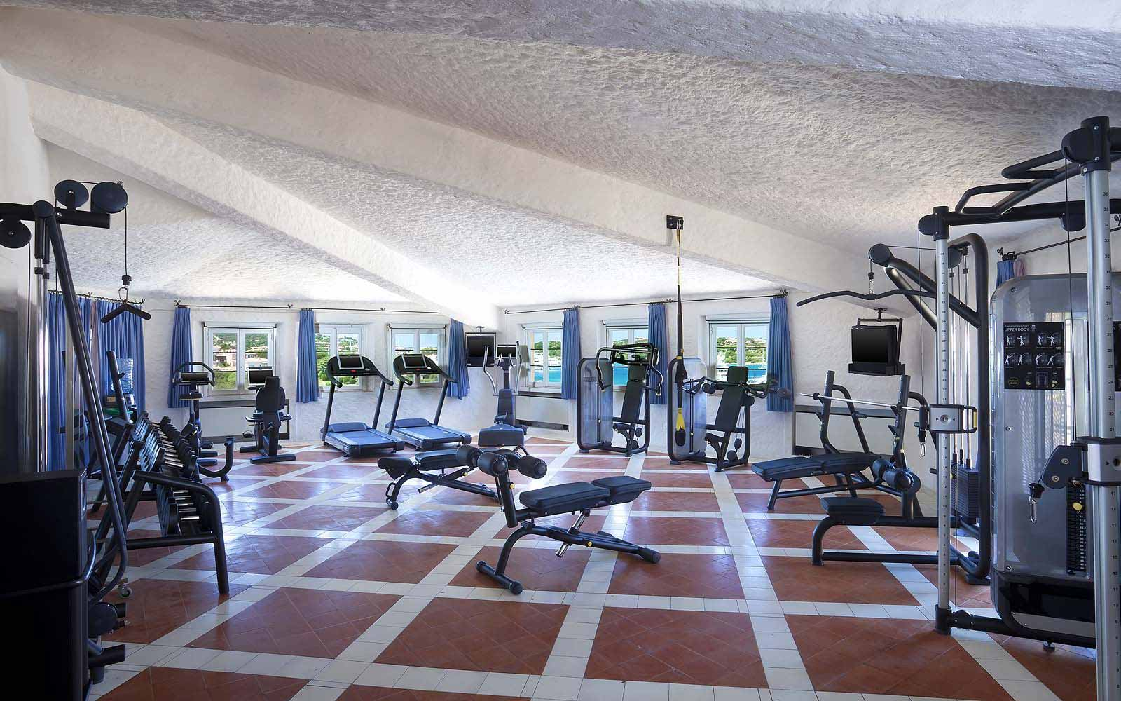 Fitness centre at the Hotel Cervo