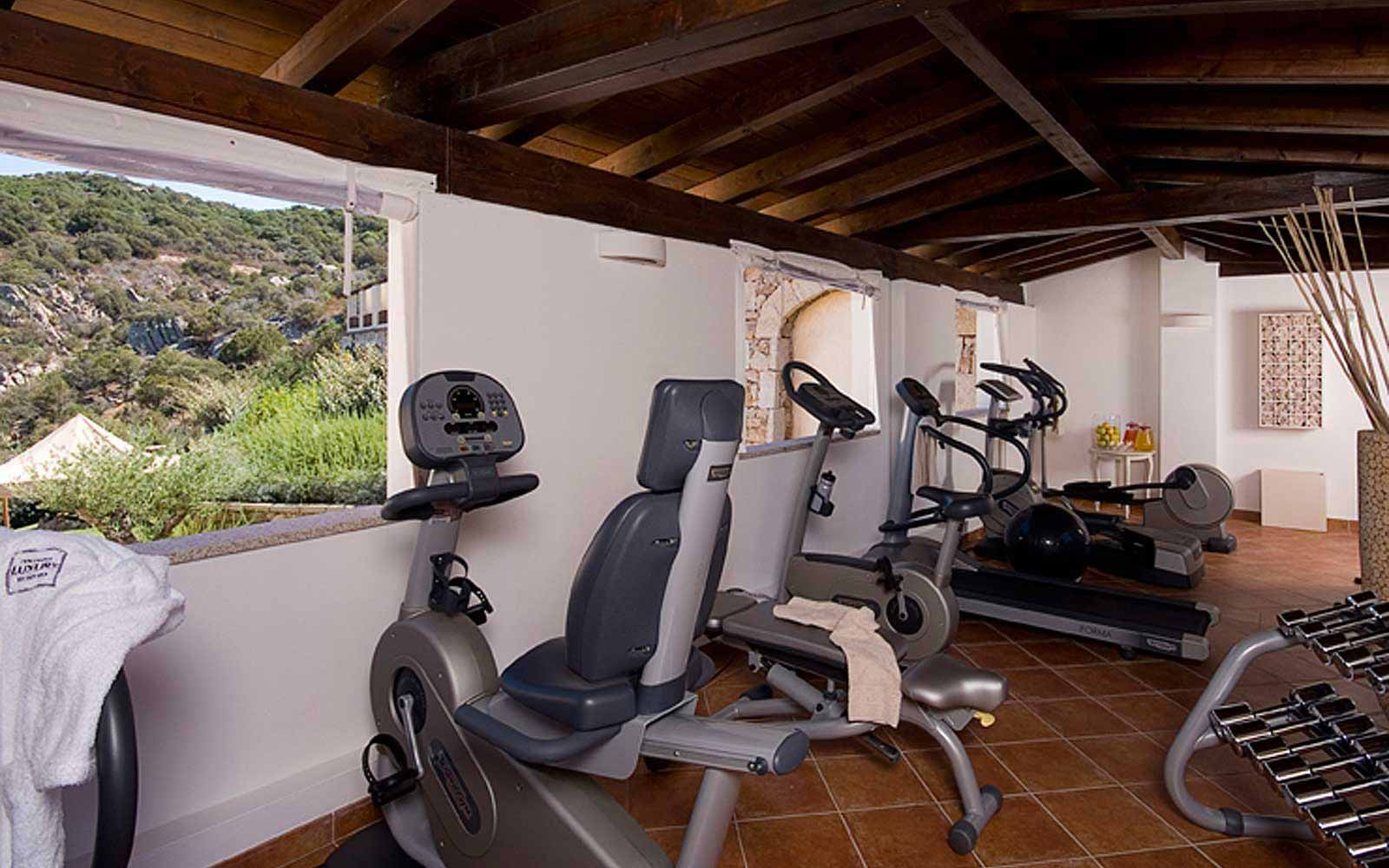 Gym at Colonna Pevero Hotel