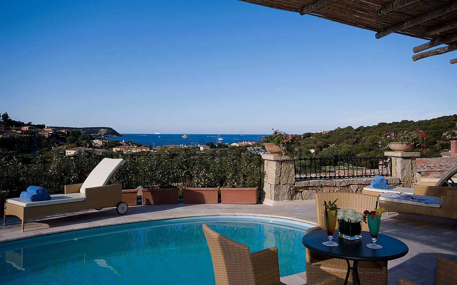 Presidential Suite's terrace and private swimming pool  at Colonna Pevero Hotel
