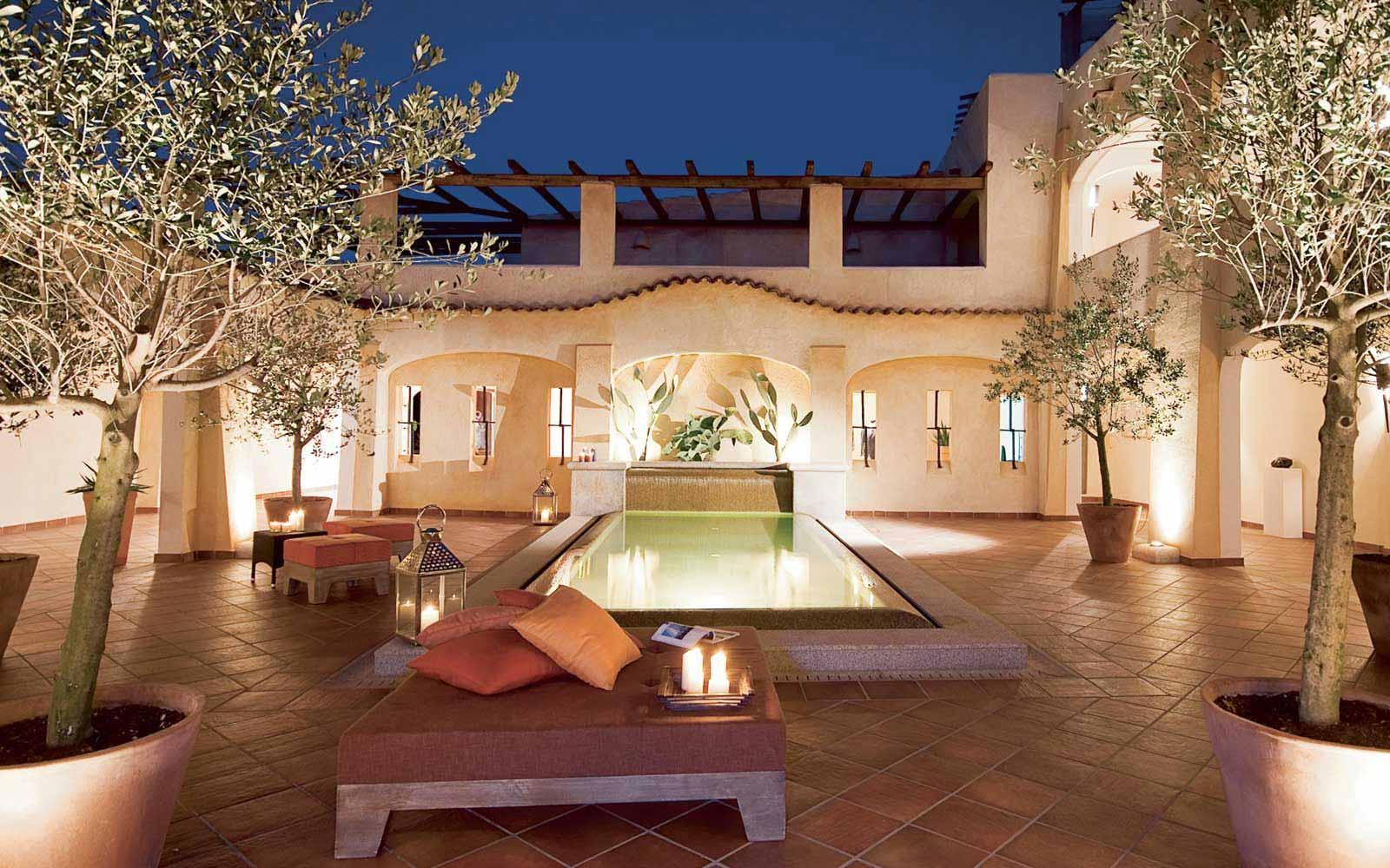 'La Corte degli Ulivi' Courtyard at Colonna Pevero Hotel
