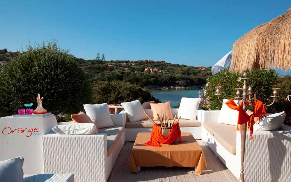 Orange beach club at Grand Hotel in Porto Cervo