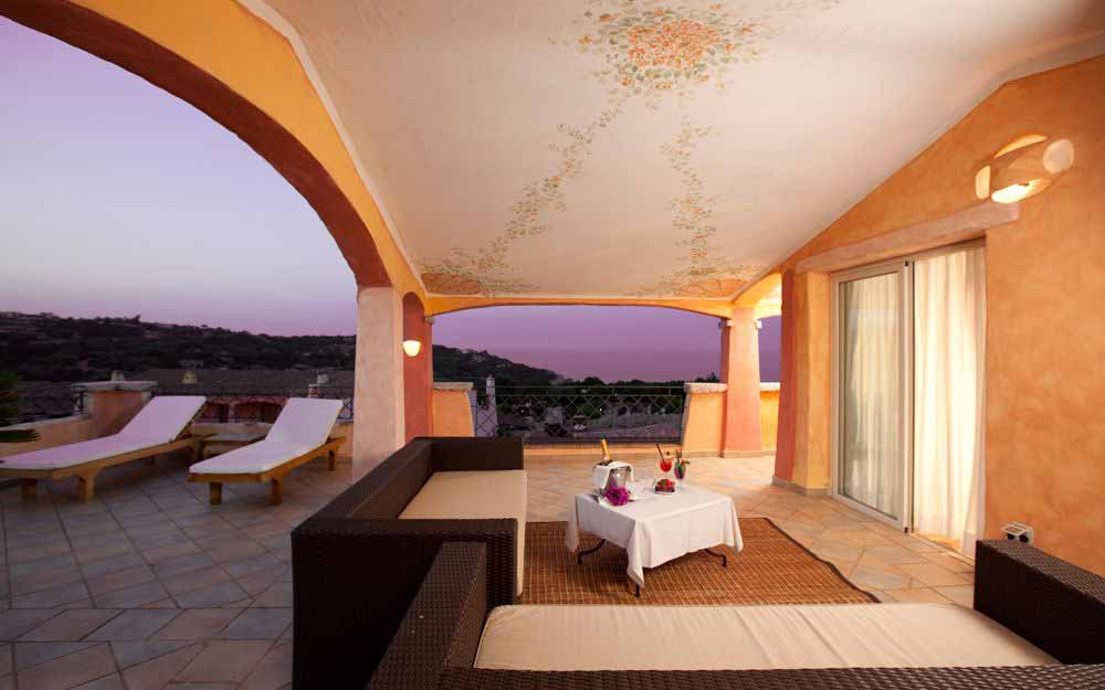 Suite Imperiale terrace at Grand Hotel in Porto Cervo