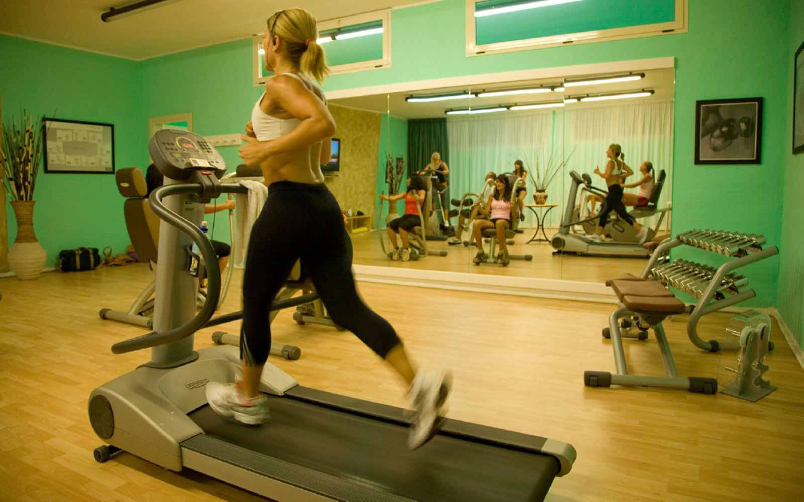 Fitness room at Grand Hotel in Porto Cervo
