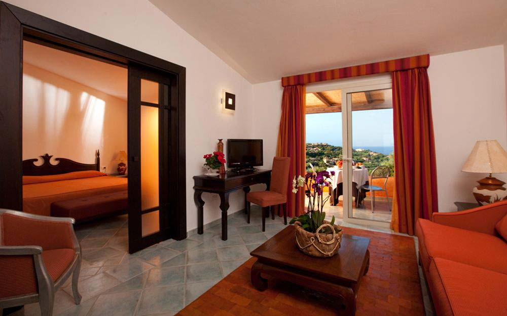 Suite superior at Grand Hotel in Porto Cervo