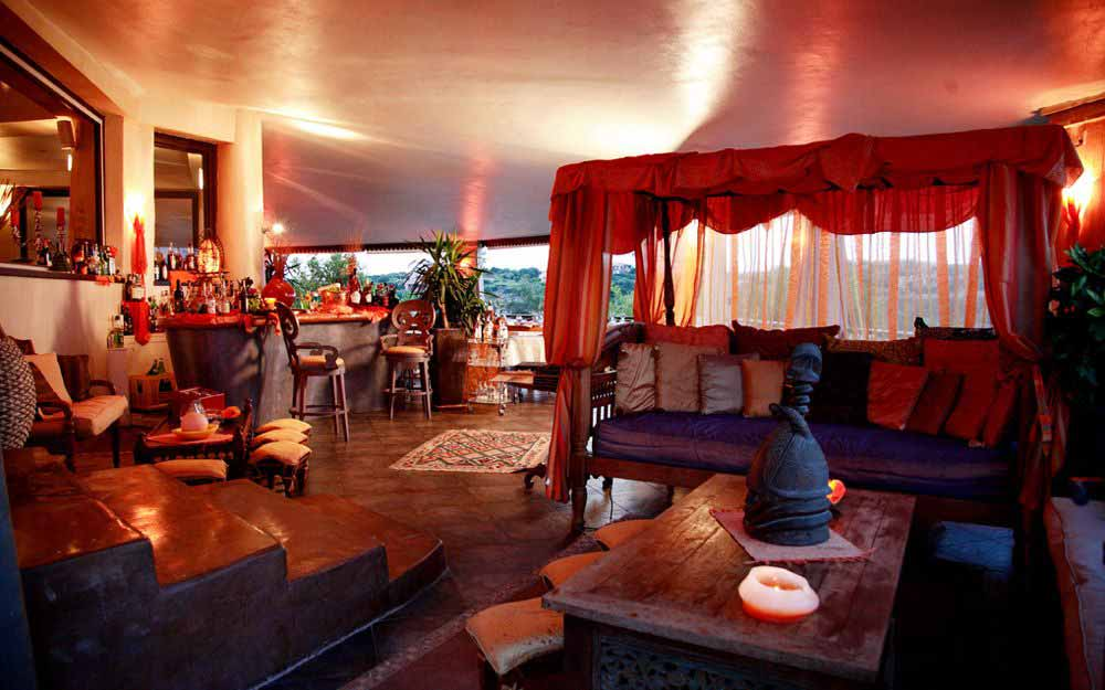 Lounge area at Grand Hotel in Porto Cervo