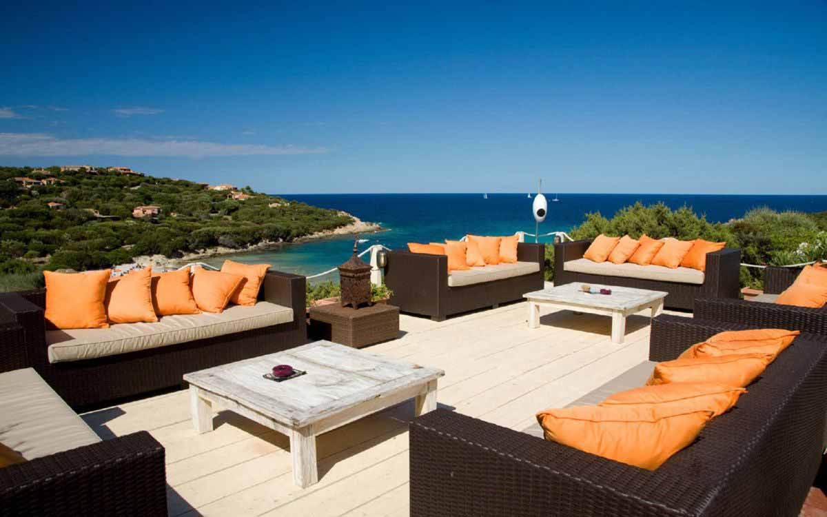Sun terrace at Grand Hotel in Porto Cervo