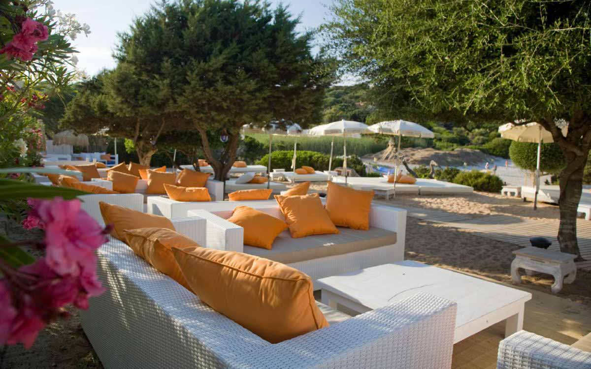 Relax area at Grand Hotel in Porto Cervo