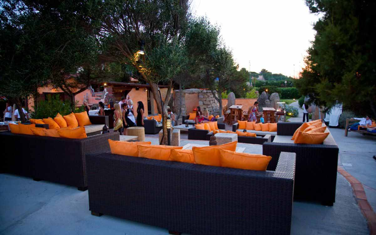 Evening aperitif at Grand Hotel in Porto Cervo