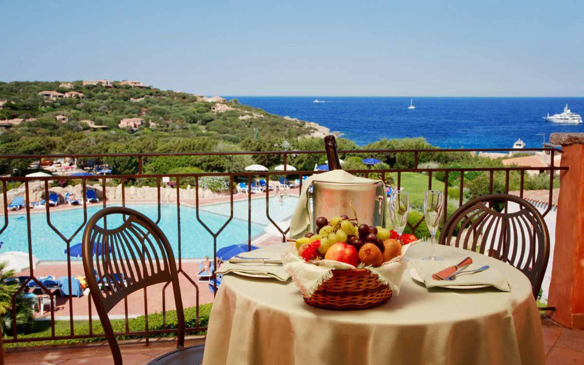 Breakfast at Grand Hotel in Porto Cervo
