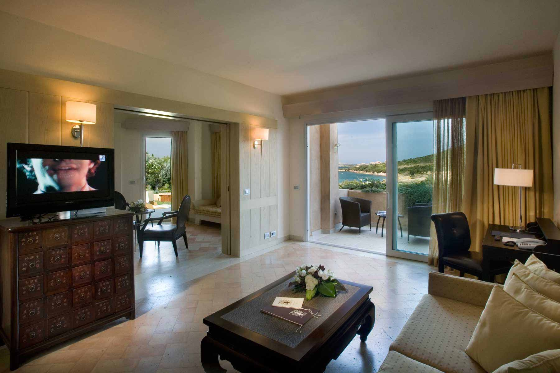 Suite living area at L'Ea Bianca Luxury Resort