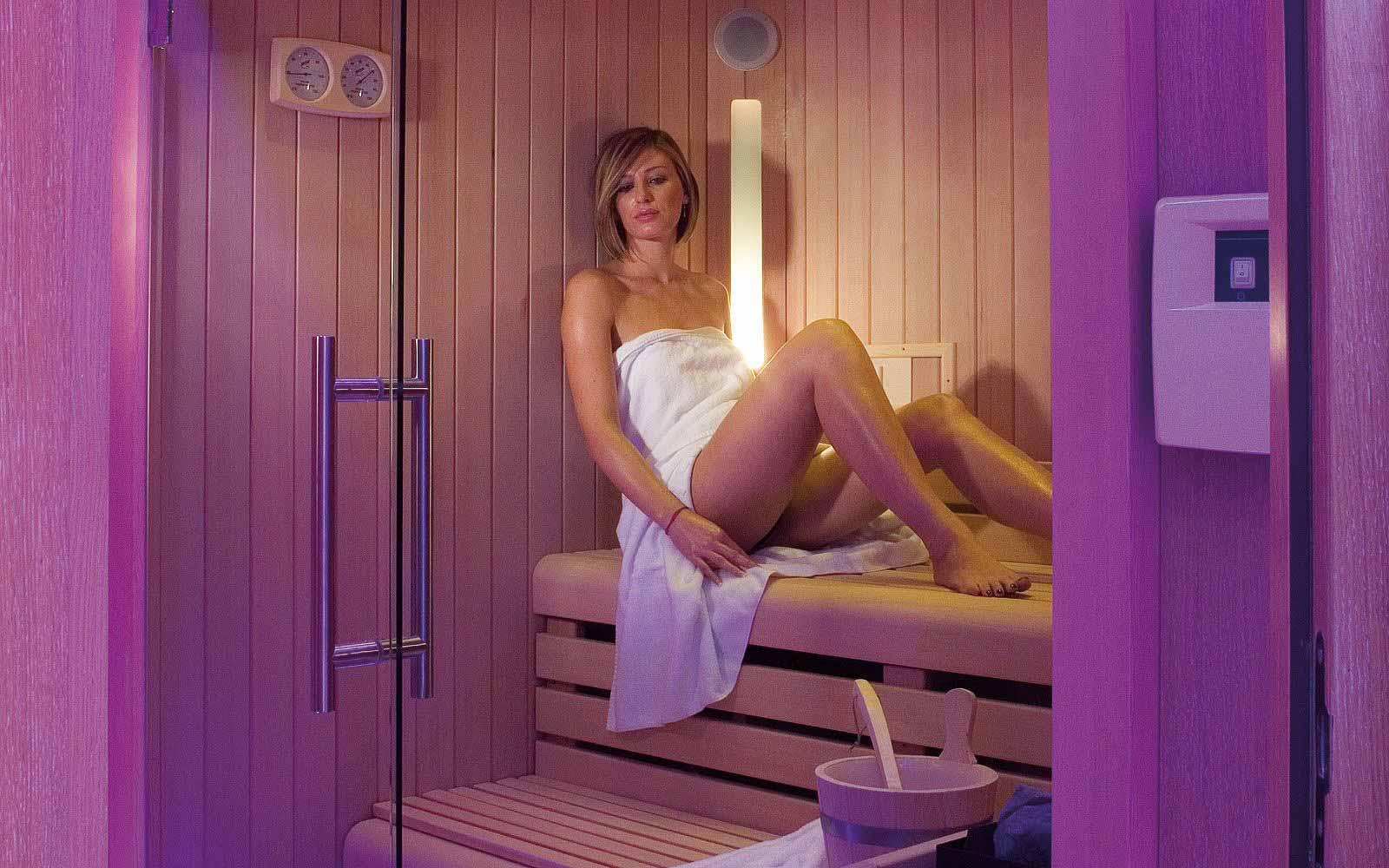 Sauna at the L'Ea Bianca Luxury Resort