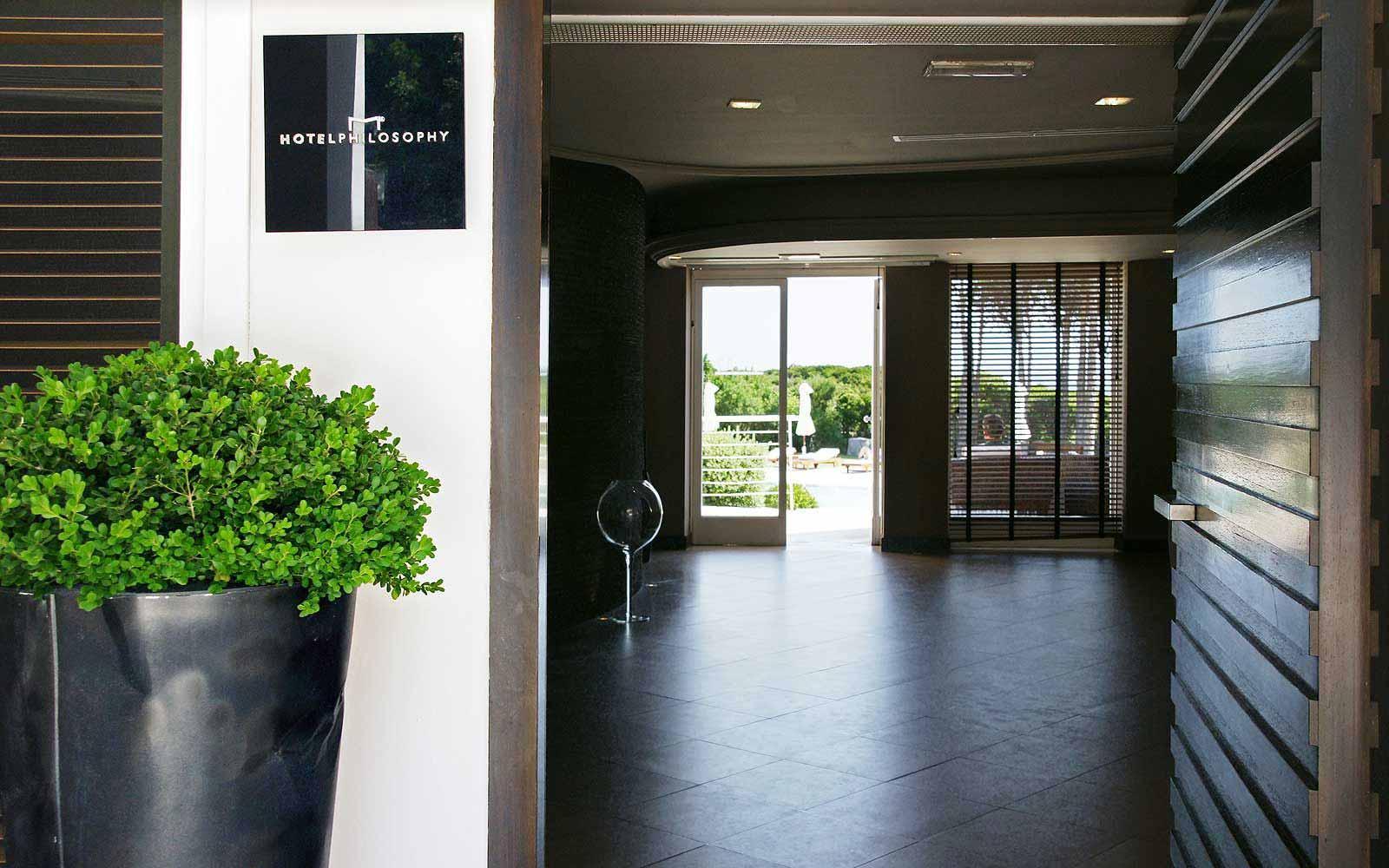 Main entrance to the La Coluccia Hotel & Beach Club