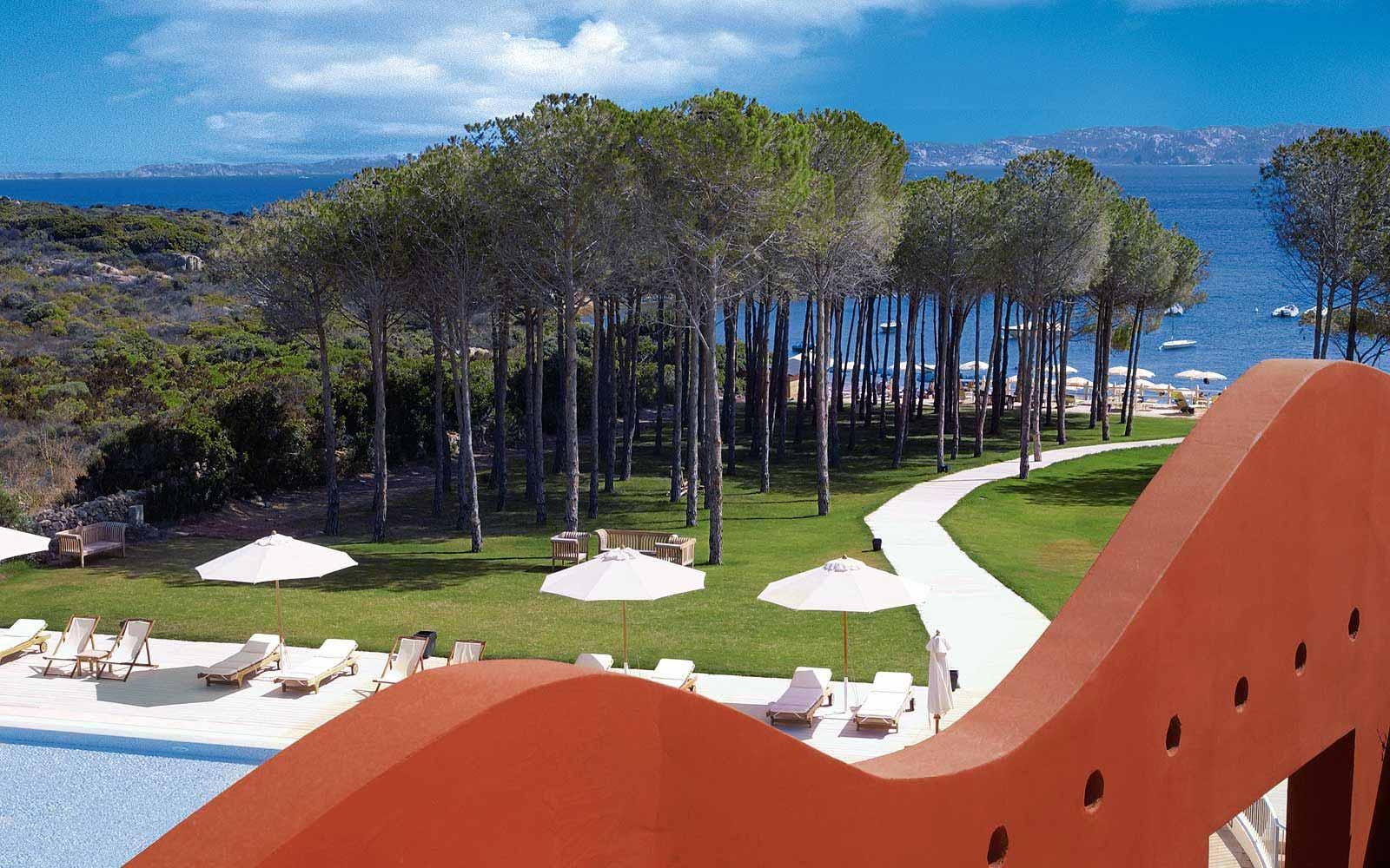 View from a balcony at La Coluccia Hotel & Beach Club