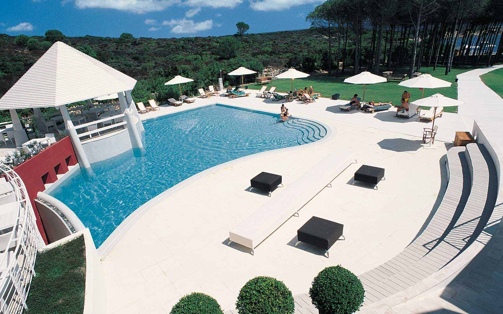 Swimming pool at La Coluccia Hotel & Beach Club