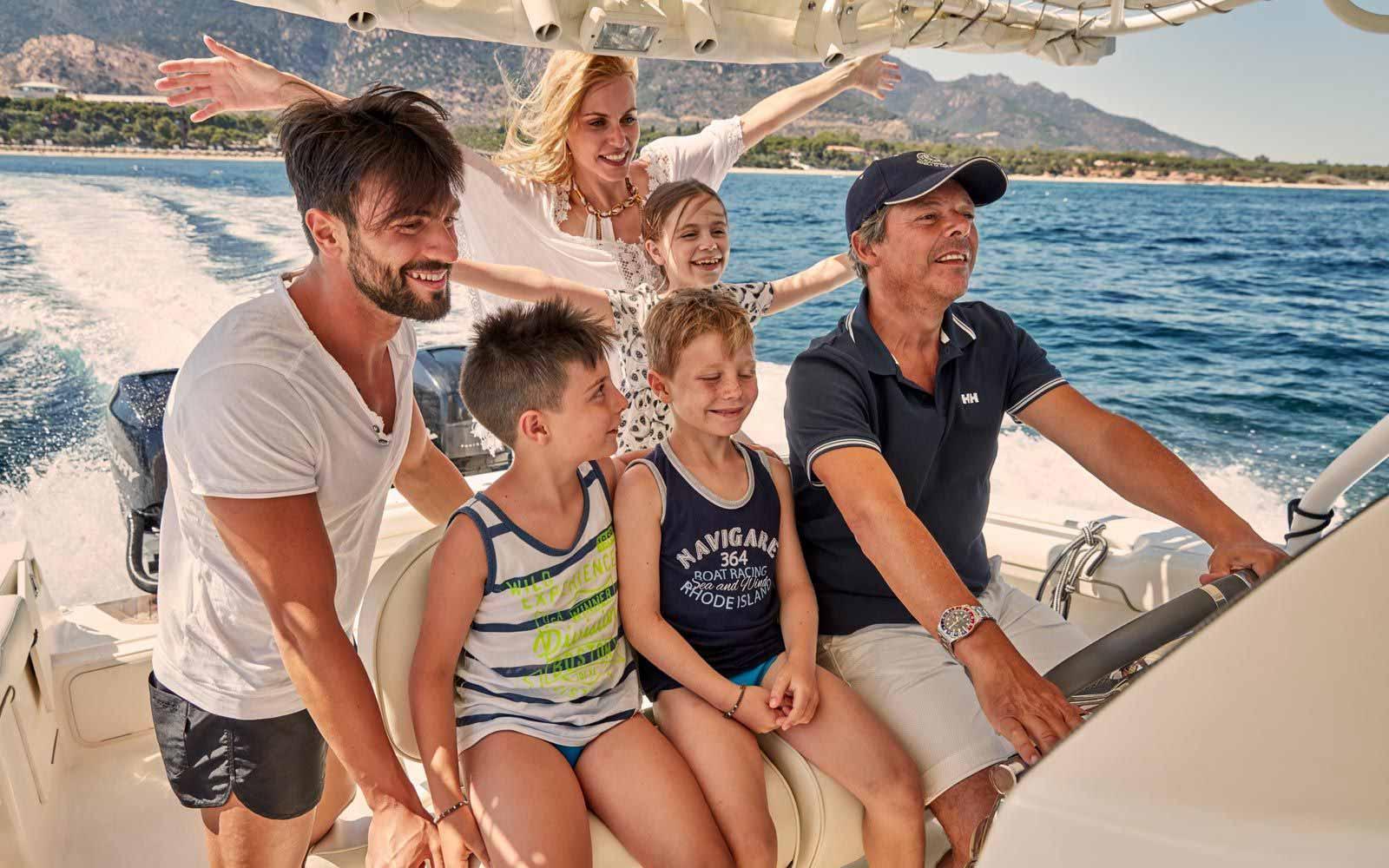 Boat trips at Forte Village Resort