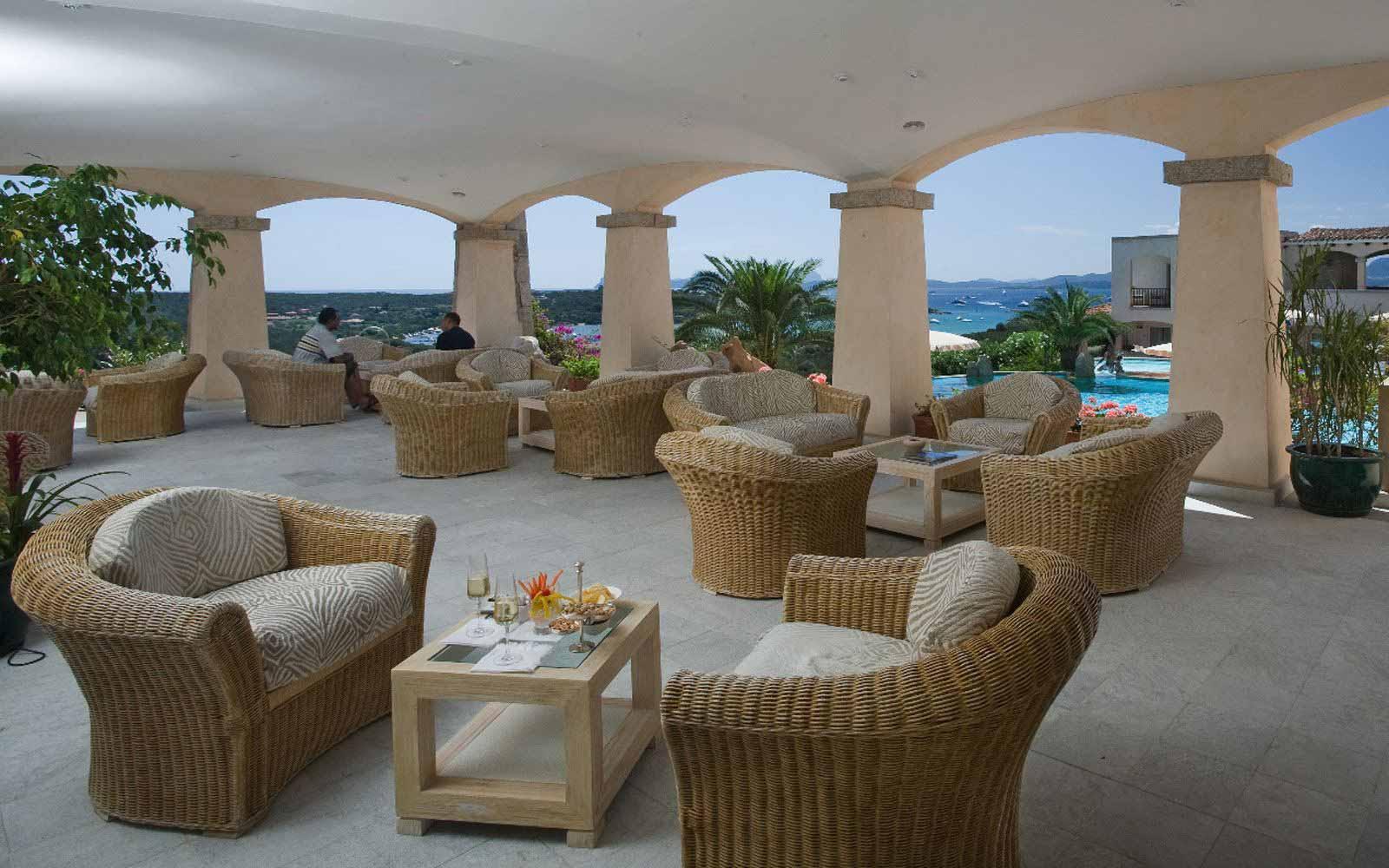 Terrace bar at Hotel Petra Bianca