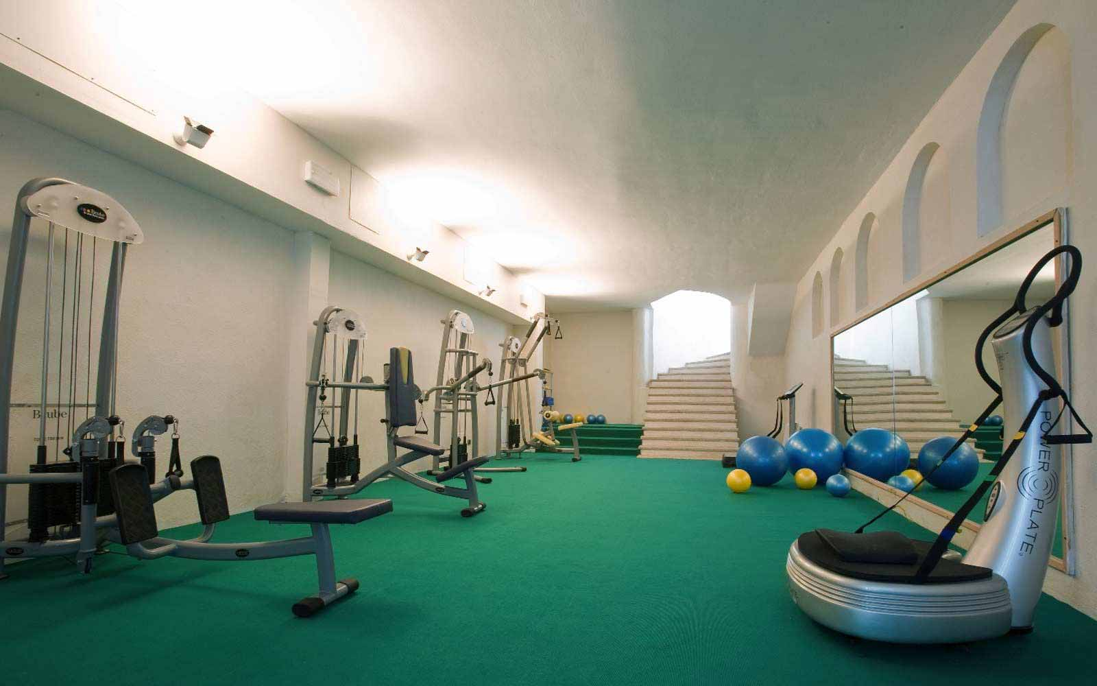 Fitness room at Hotel Petra Bianca