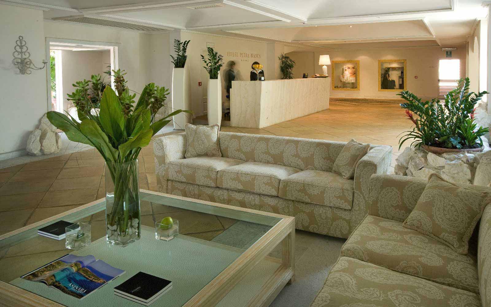 Reception hall at Hotel Petra Bianca