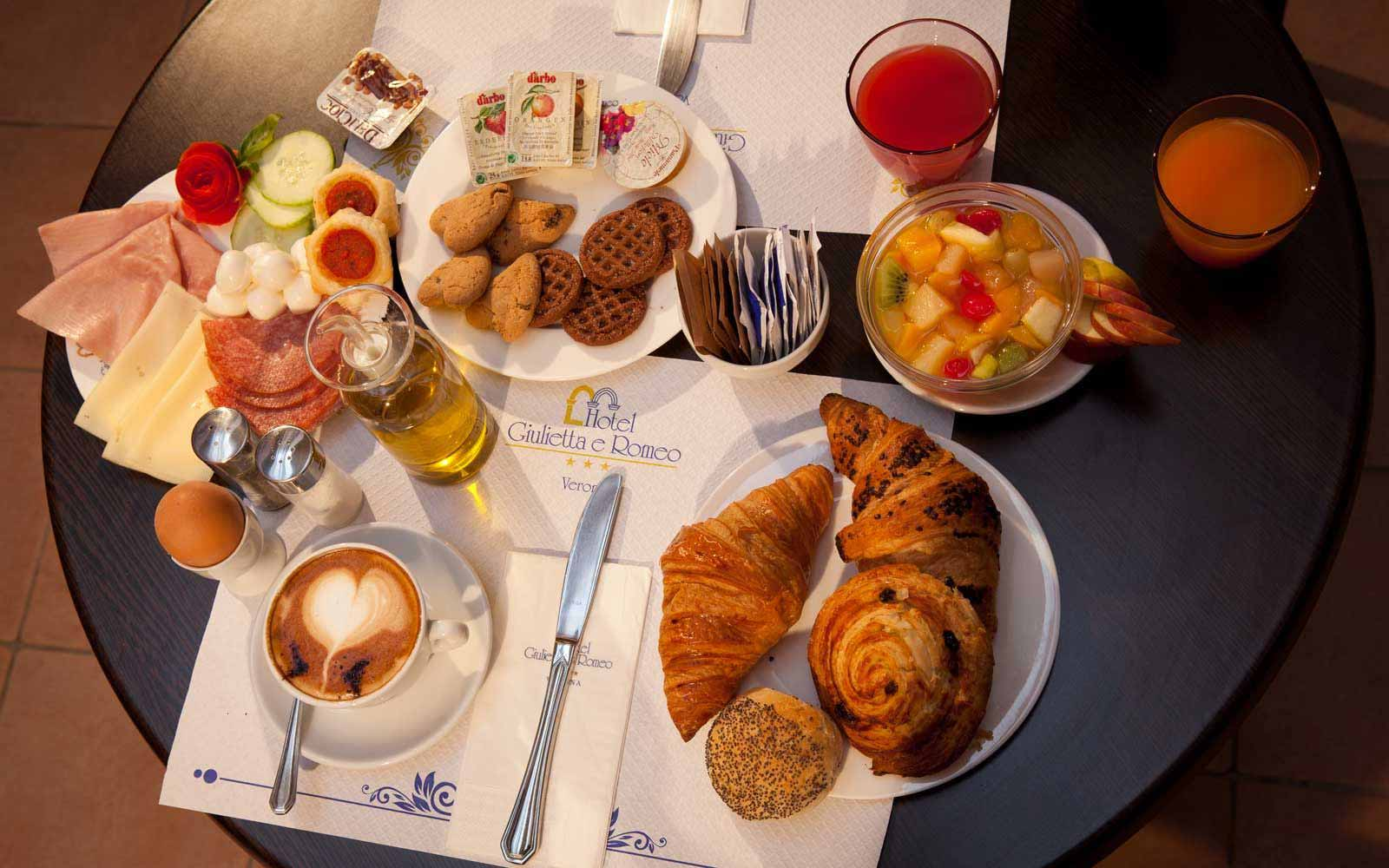 Scrumptious Italian breakfast at Hotel Giulietta & Romeo
