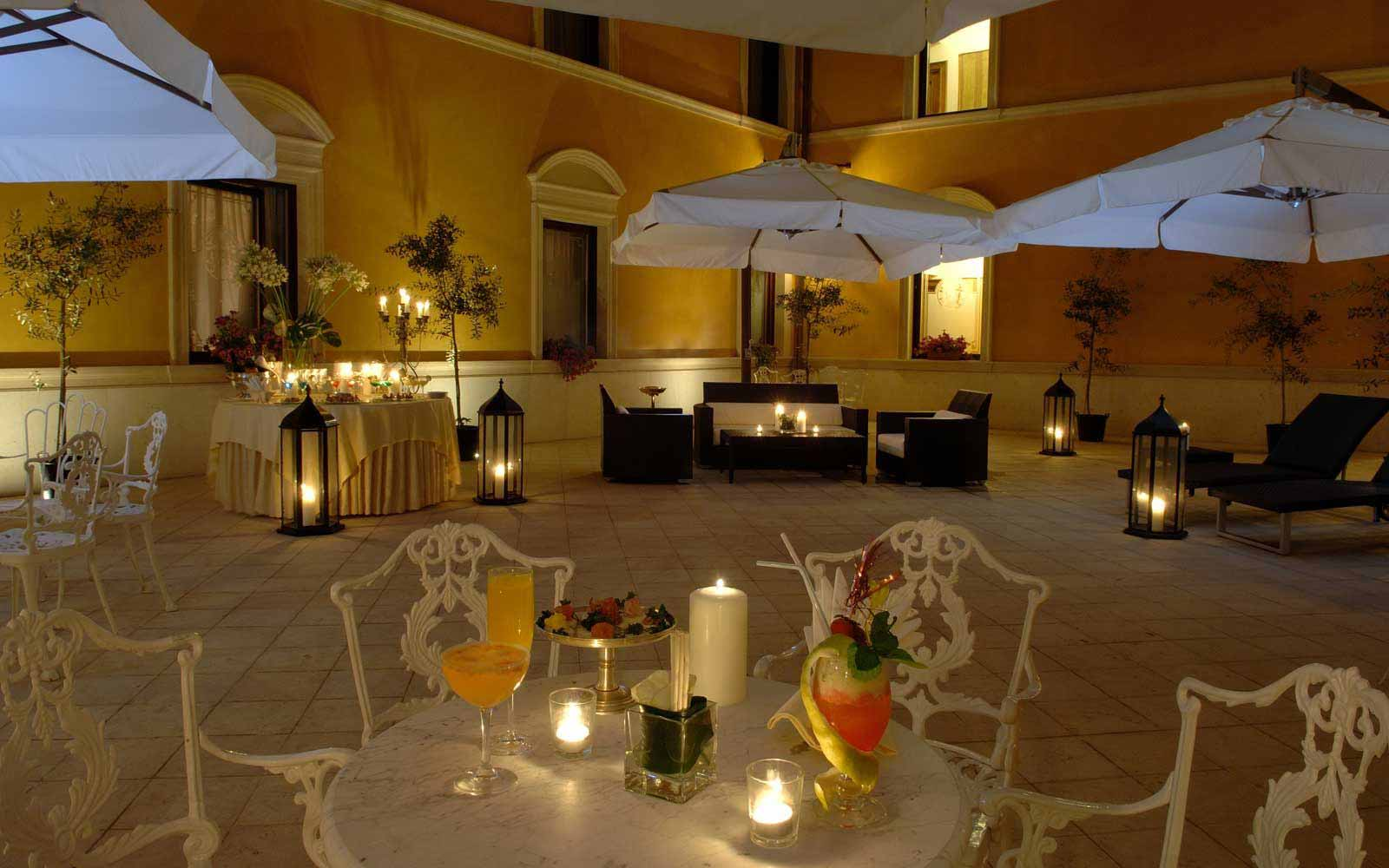 Candlelit dinner at Due Torri Hotel