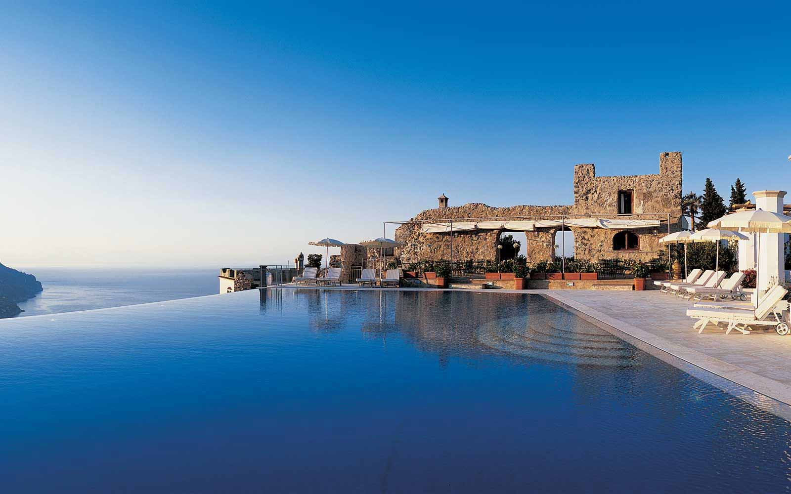 Infinity pool at Belmond Hotel Caruso