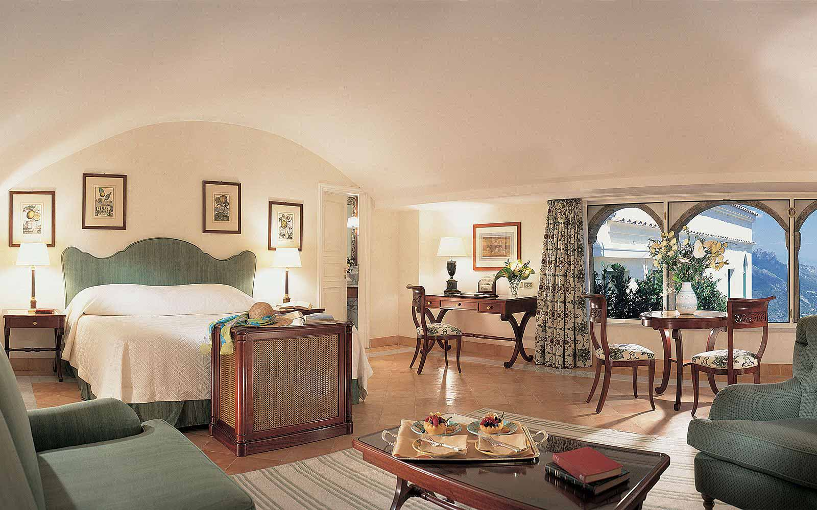 Deluxe Junior Suite with seaview at the Belmond Hotel Caruso