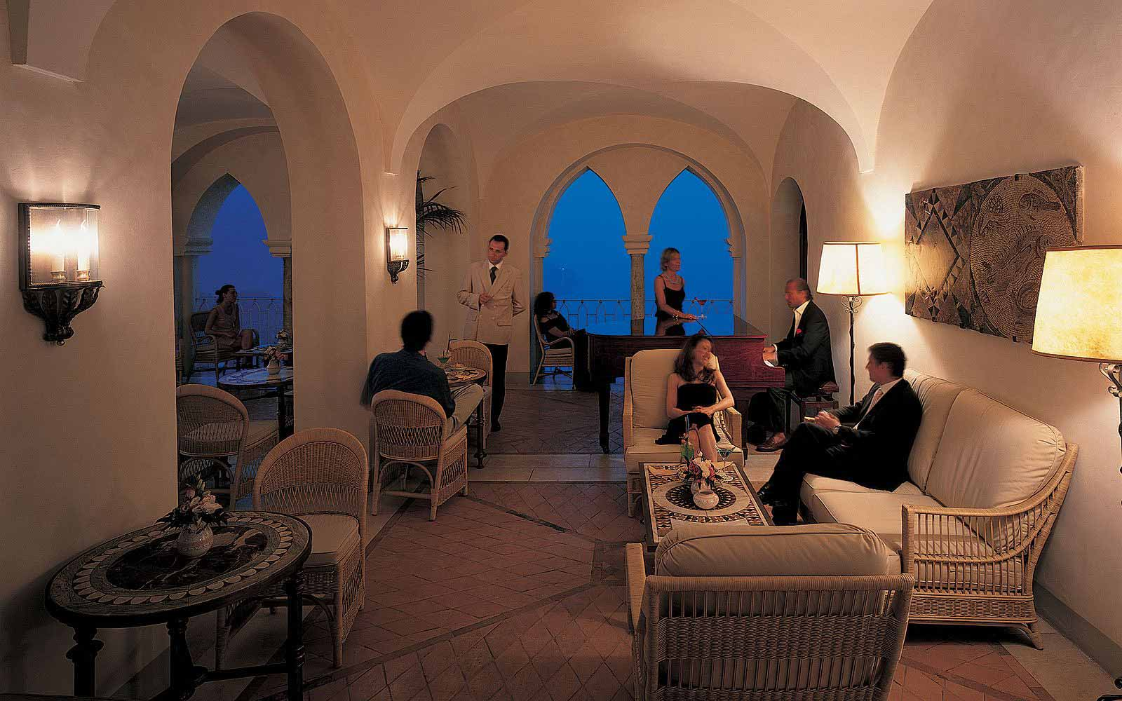 Piano Bar interior at the Belmond Hotel Caruso