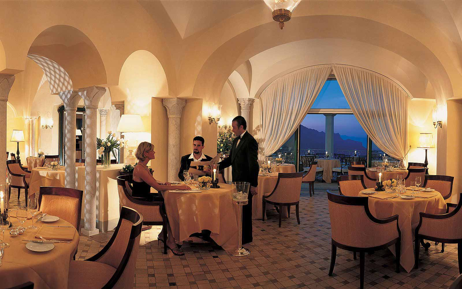 Restaurant at the Belmond Hotel Caruso