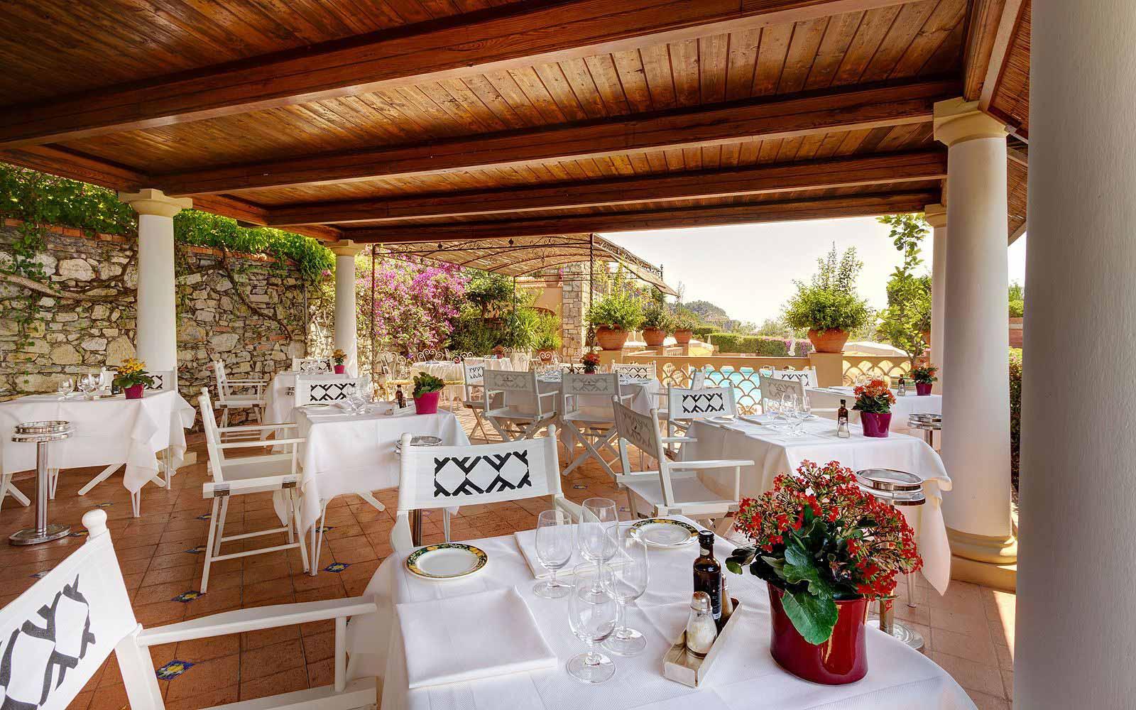 Pool restaurant at San Domenico Palace Hotel