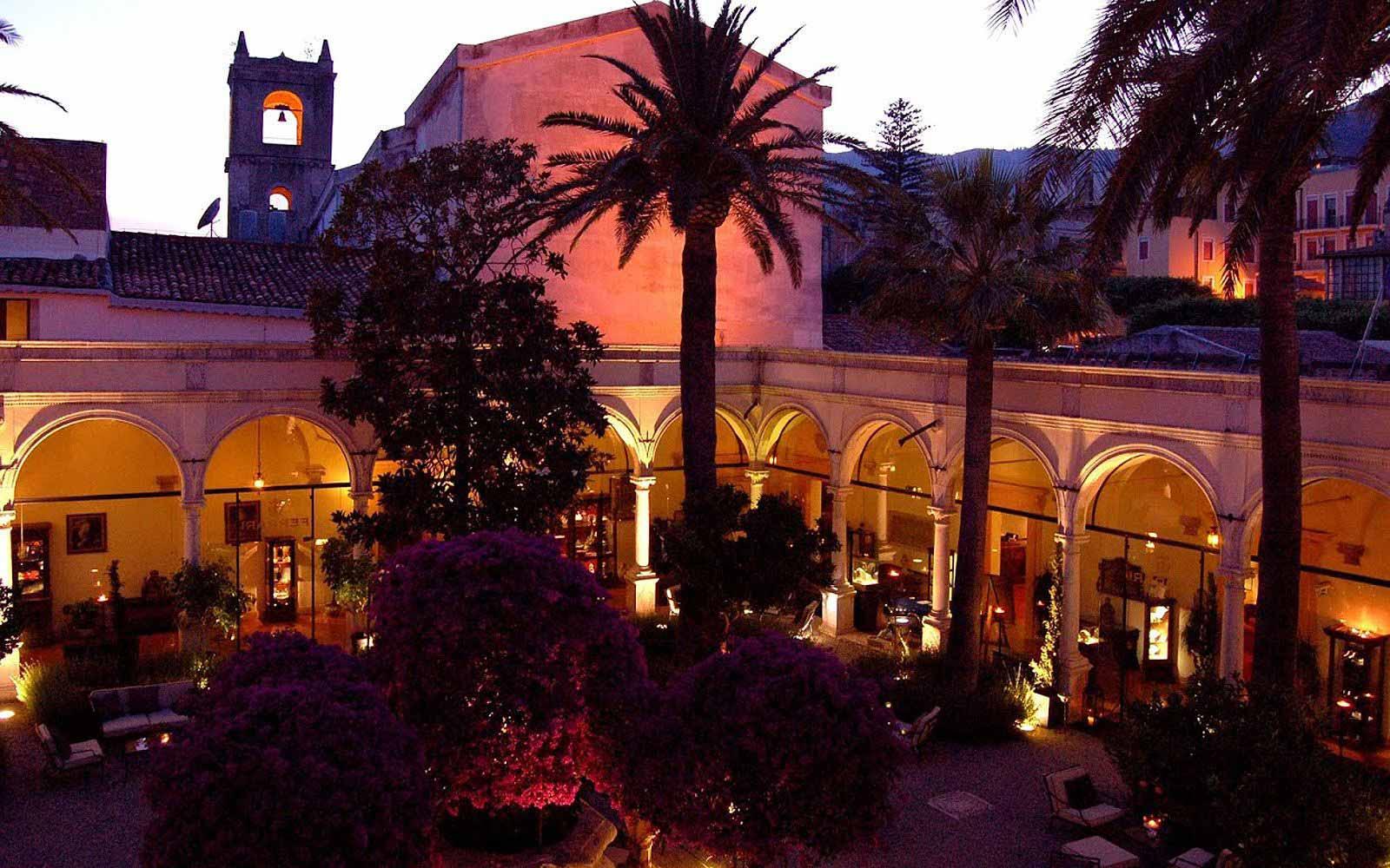 San Domenico Palace Hotel at night