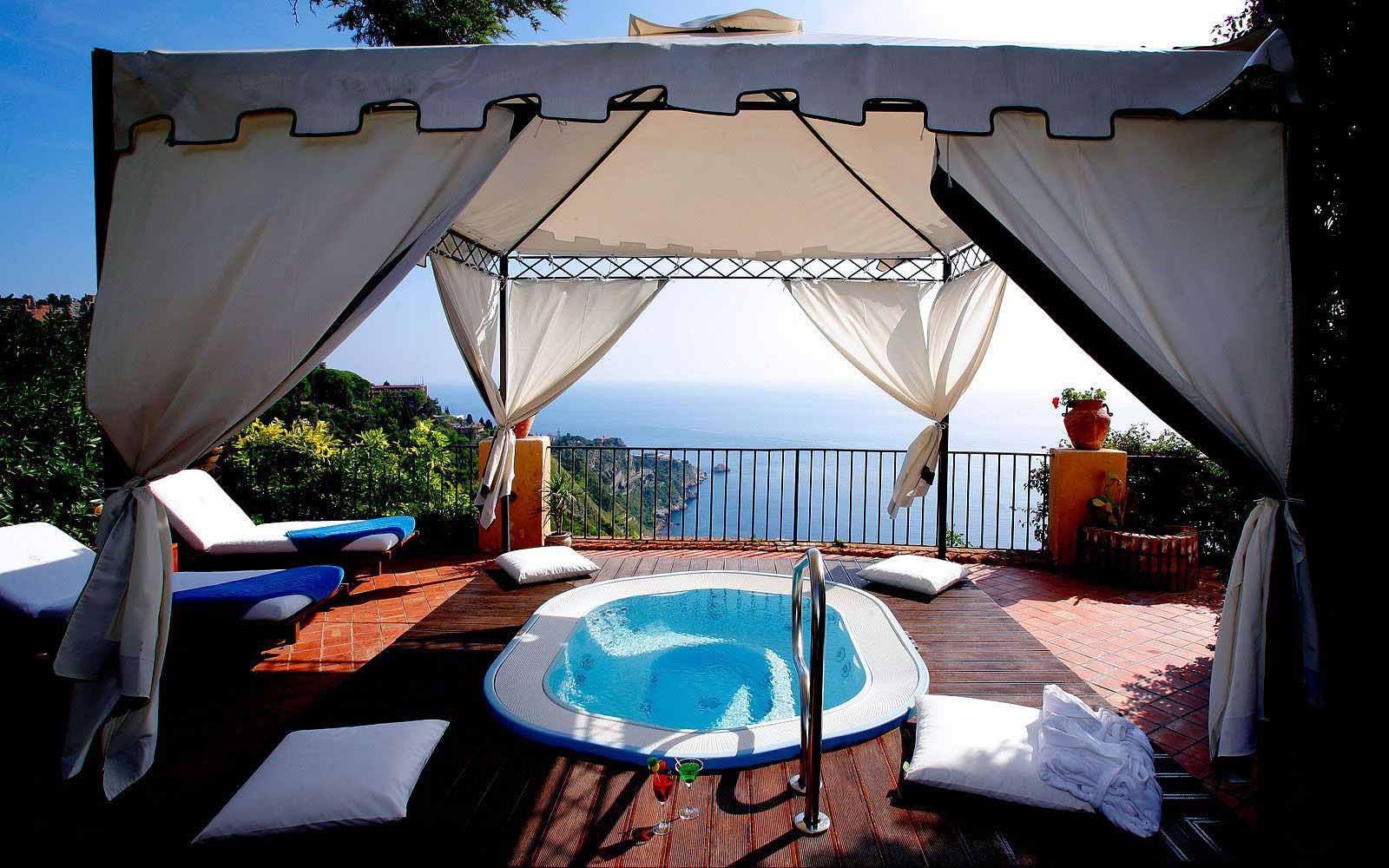 Garden suite terraces at San Domenico Palace Hotel