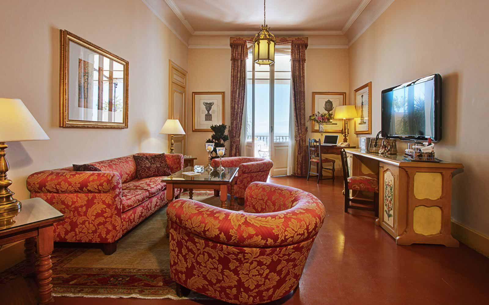 Grand suite lounge area at San Domenico Palace Hotel