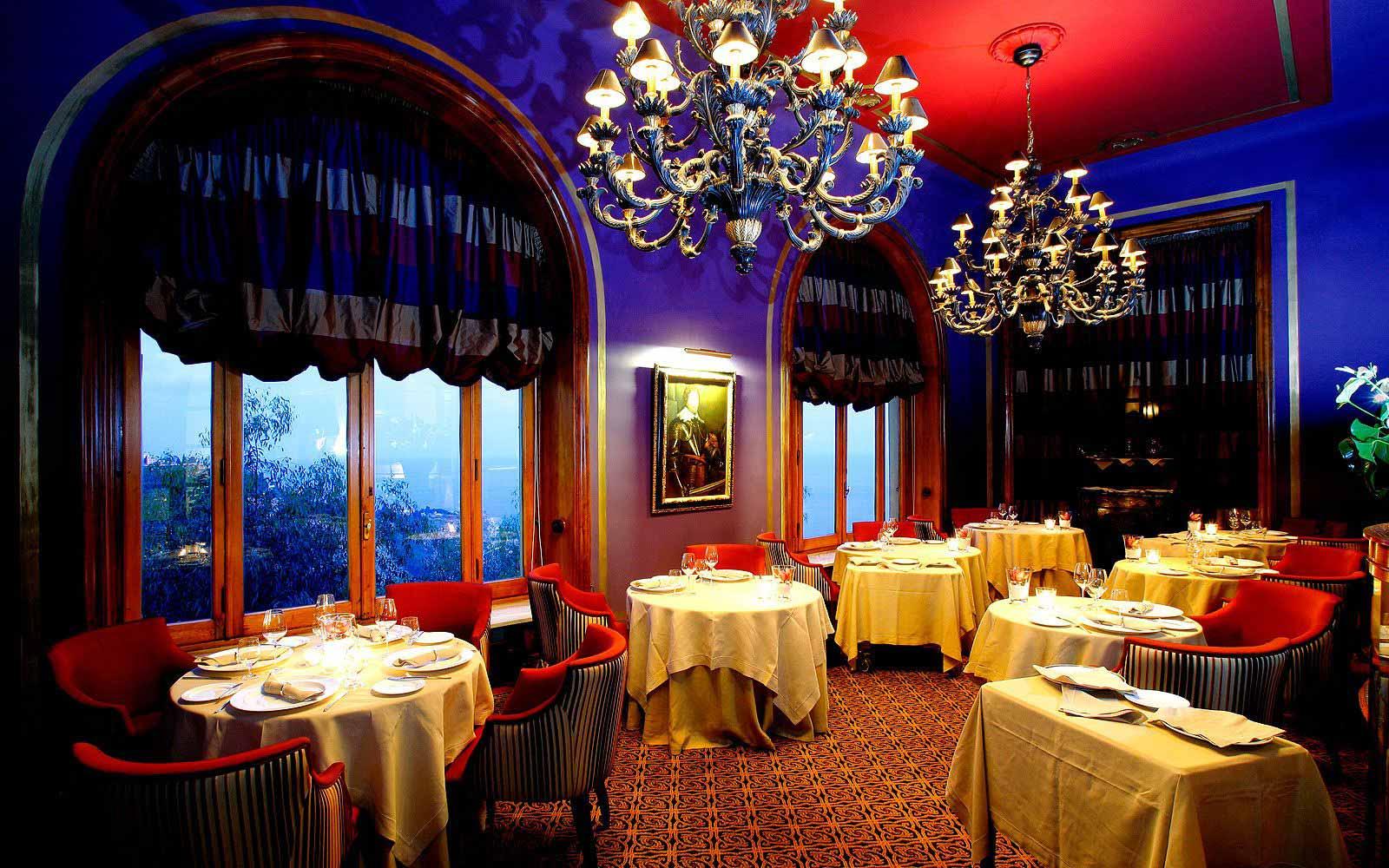 'Principe Cerami' restaurant gourmet food at the San Domenico Palace Hotel