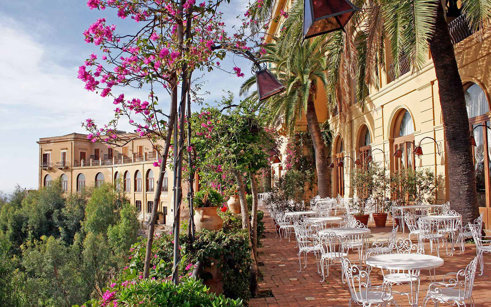 Terrace of the Bouganville Restaurant at the San Domenico Palace Hotel