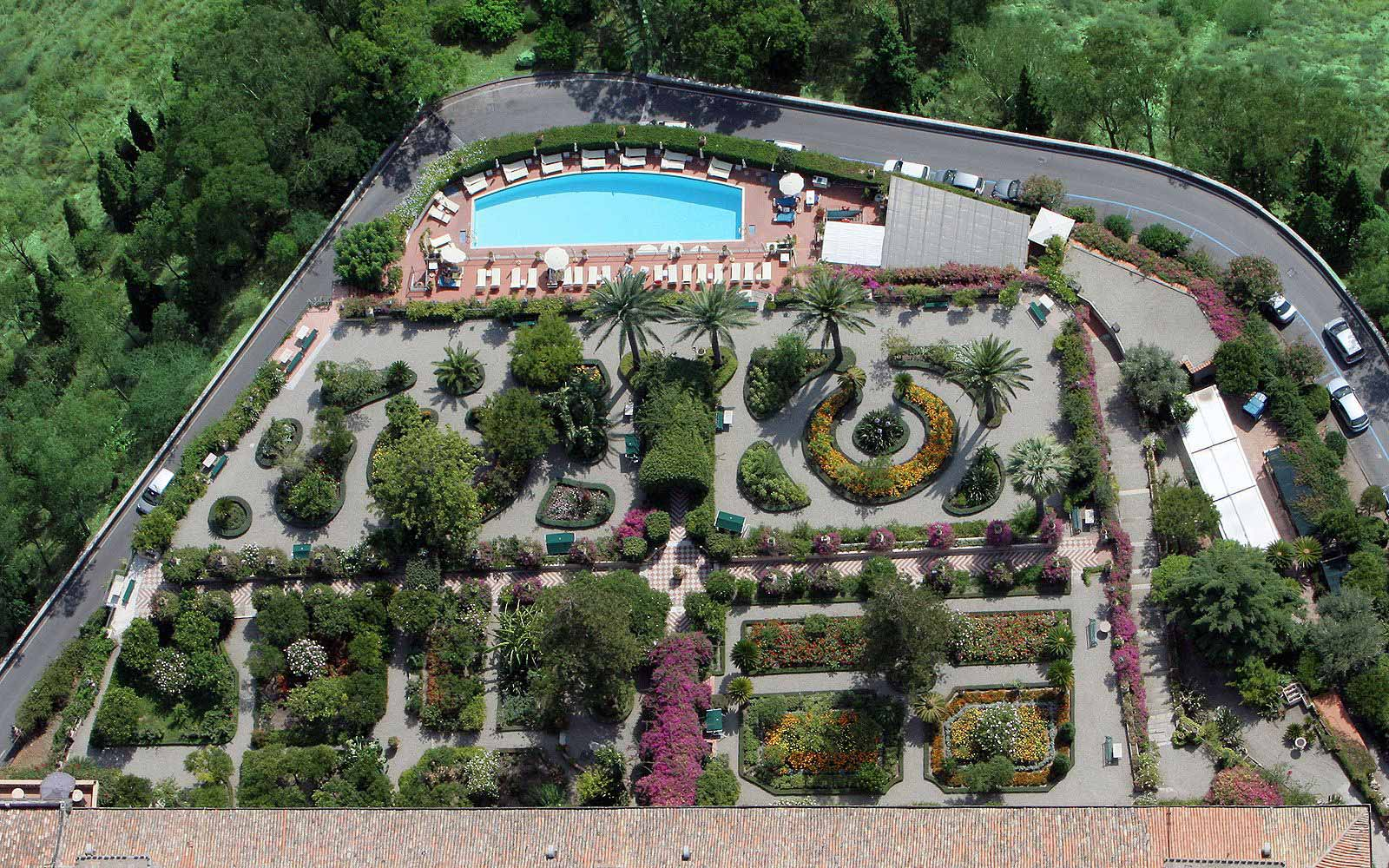 Medierranean gardens at the San Domenico Palace Hotel