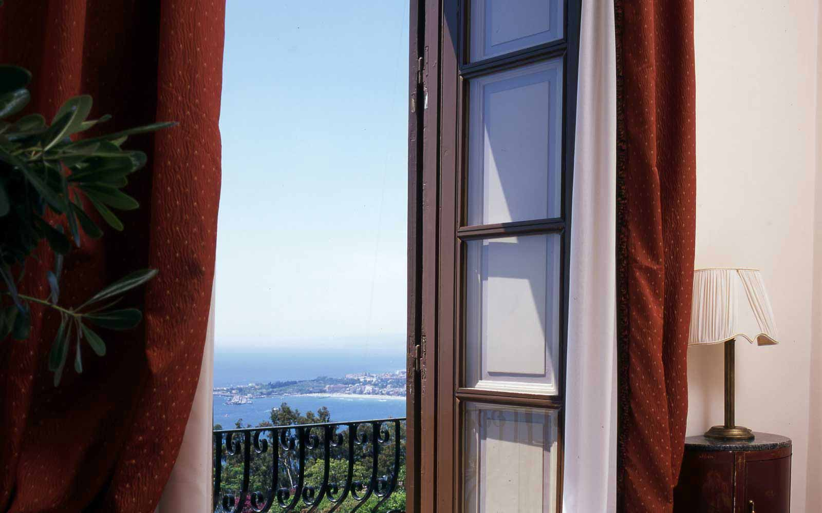 View from a balcony at San Domenico Palace Hotel