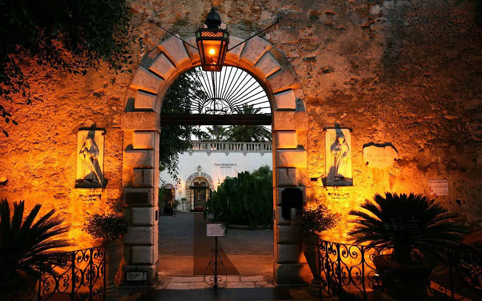 Entrance to the San Domenico Palace Hotel