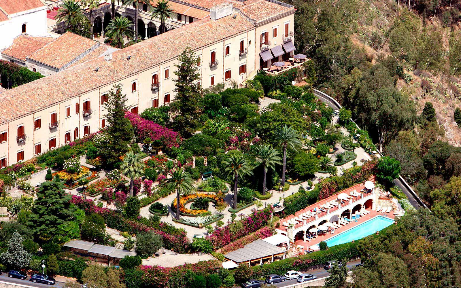 Ariel view of the San Domenico Palace Hotel