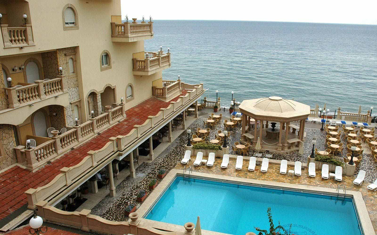 Panormaic view of swimming pool at Hellenia Yachting